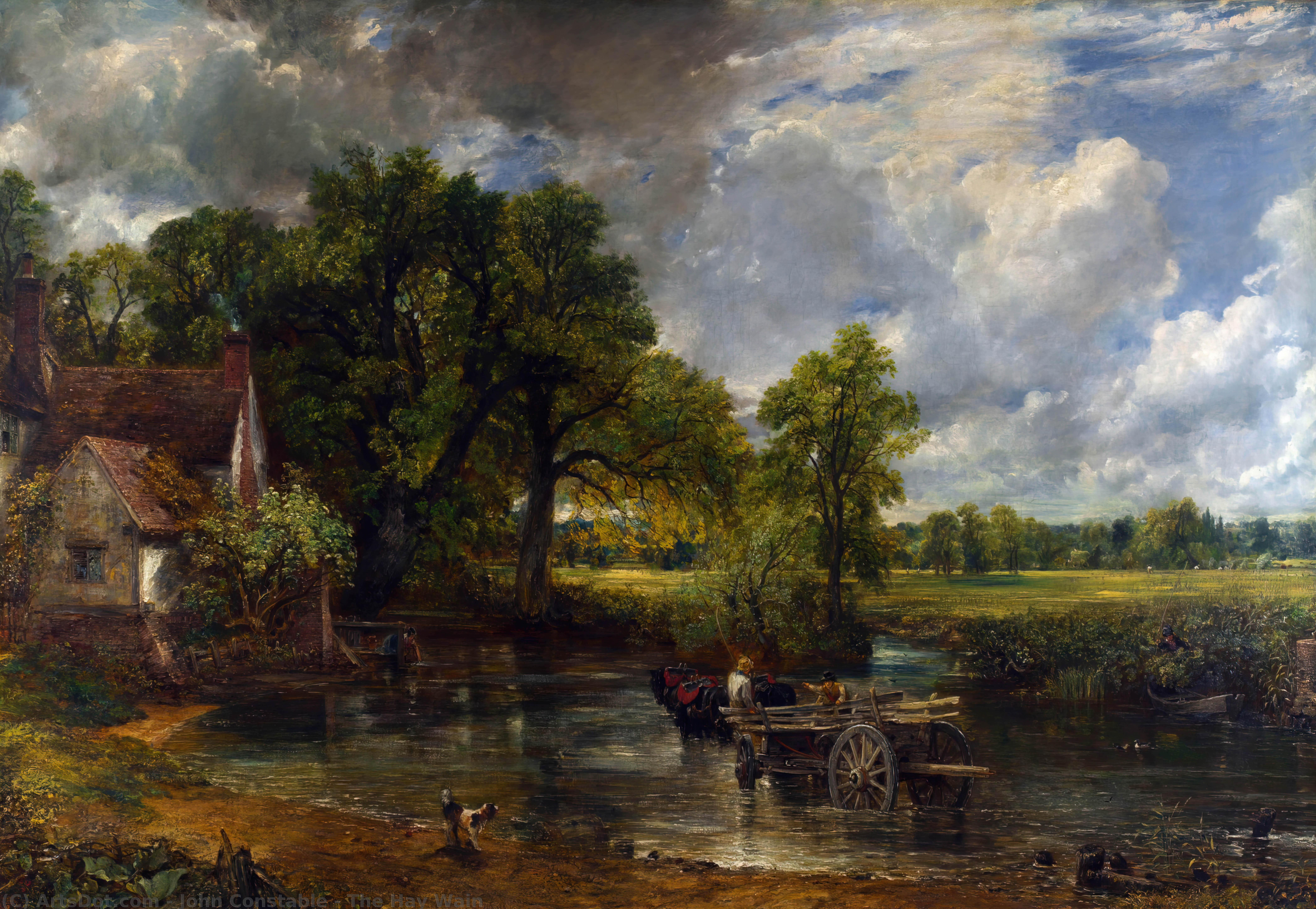 le foin Wain, 1821 de John Constable (1776-1837, United Kingdom) | Reproductions D'art Sur Toile | ArtsDot.com