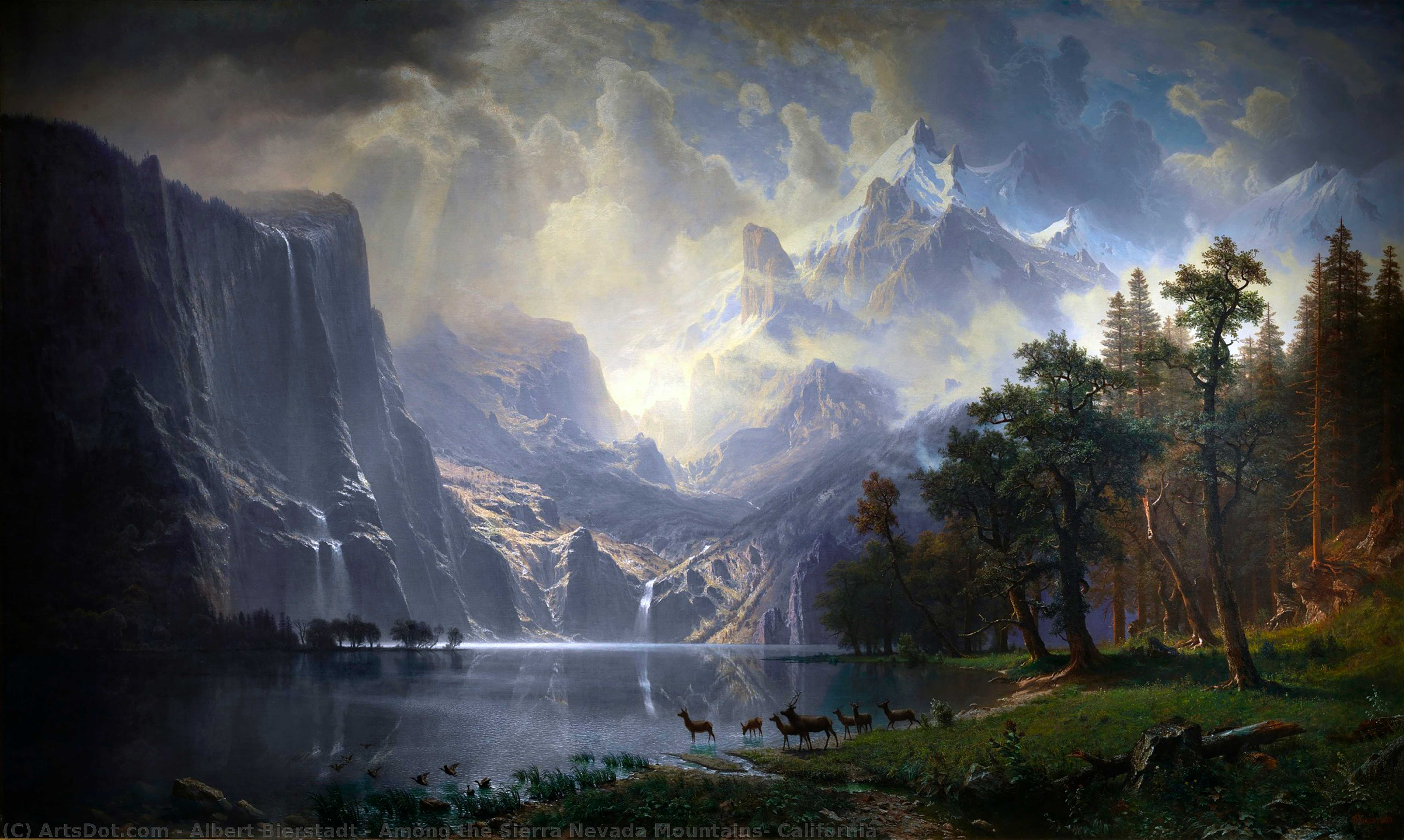 Parmi les Californie , 1868 de Albert Bierstadt (1830-1902, Germany) | Reproductions D'art De Musée | ArtsDot.com