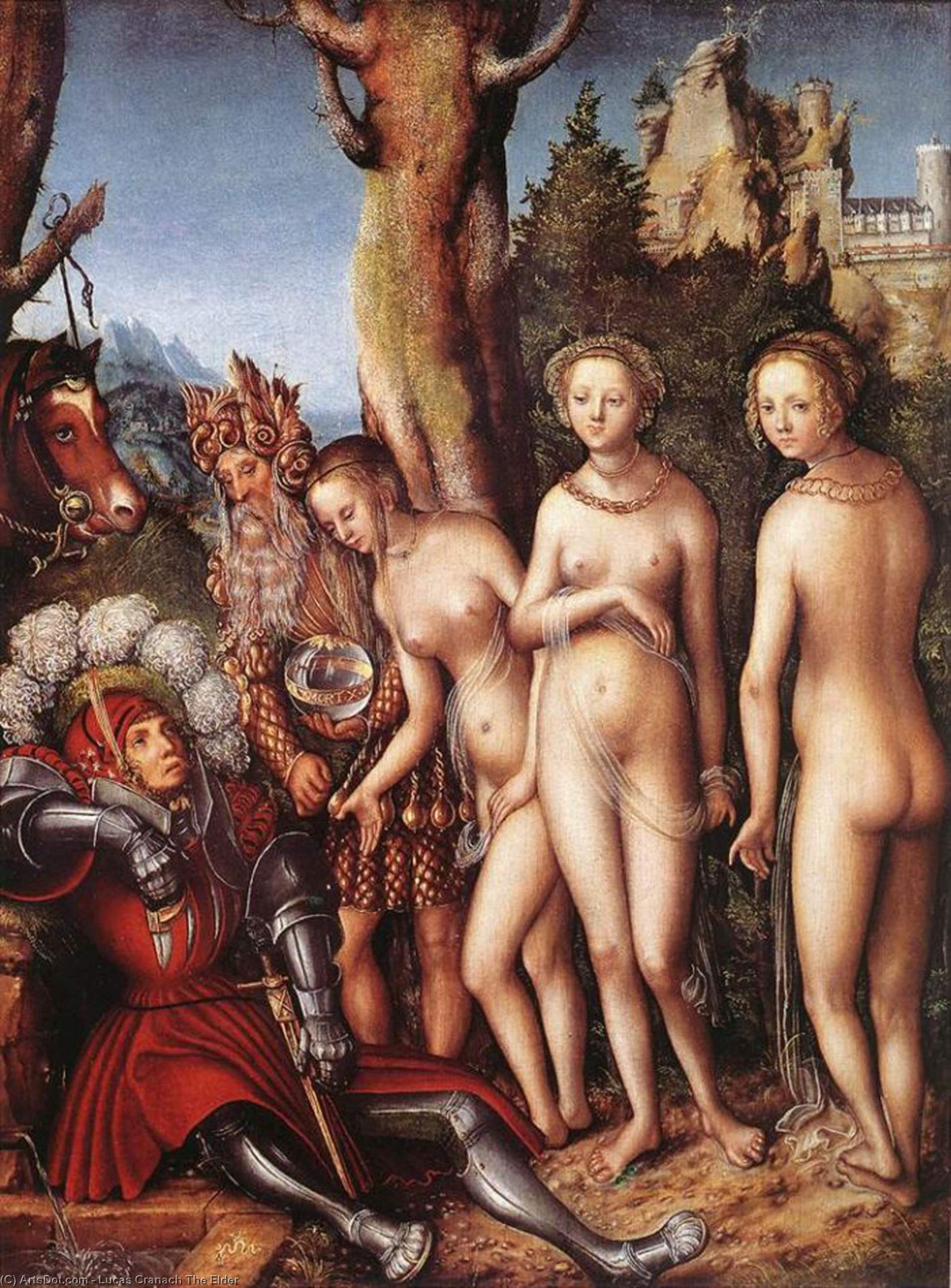 le jugement de paris, Huile de Lucas Cranach The Elder (1472-1553, Germany)
