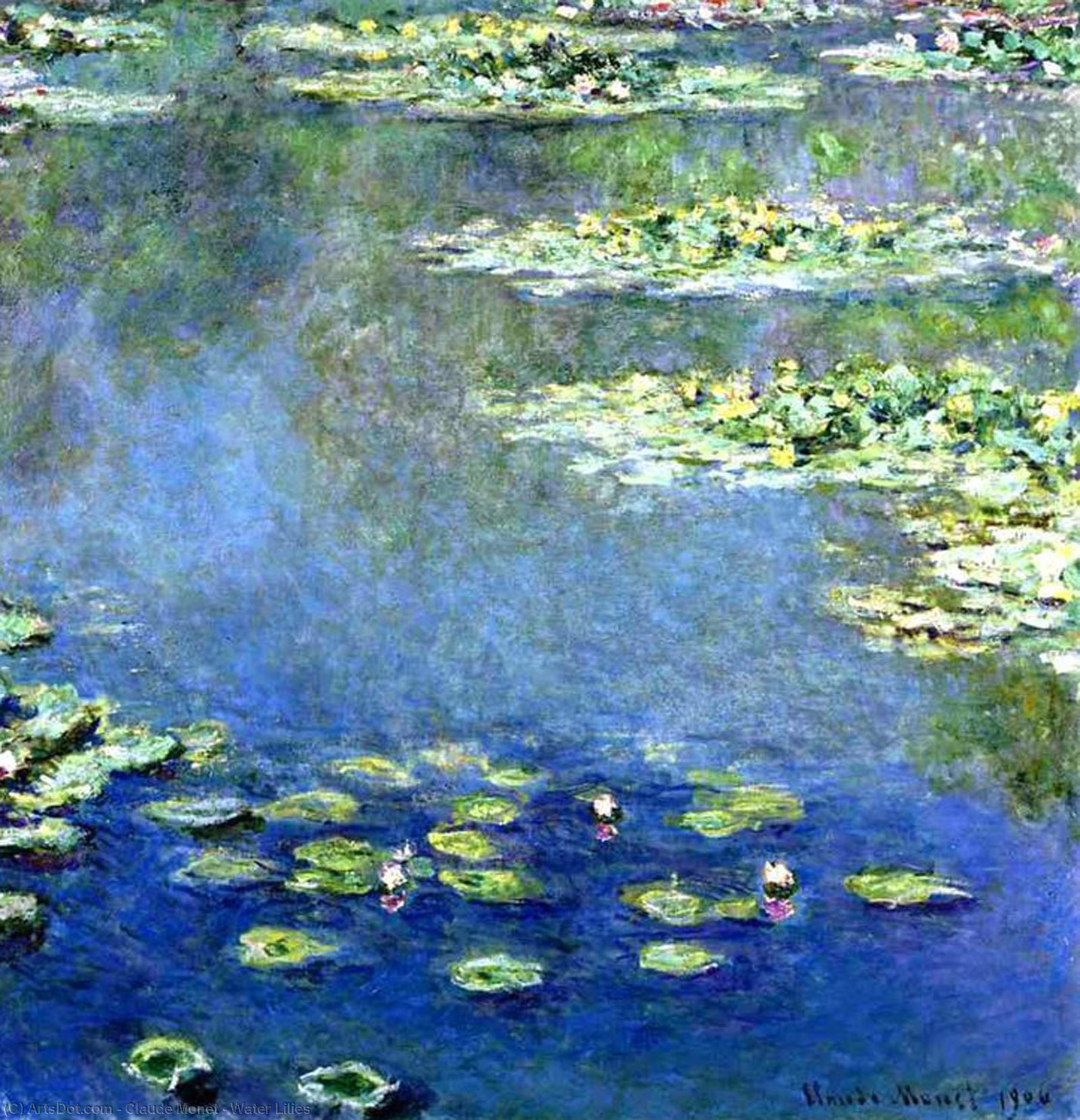 Nénuphars, 1906 de Claude Monet (1840-1926, France) | Reproductions D'art Claude Monet | ArtsDot.com