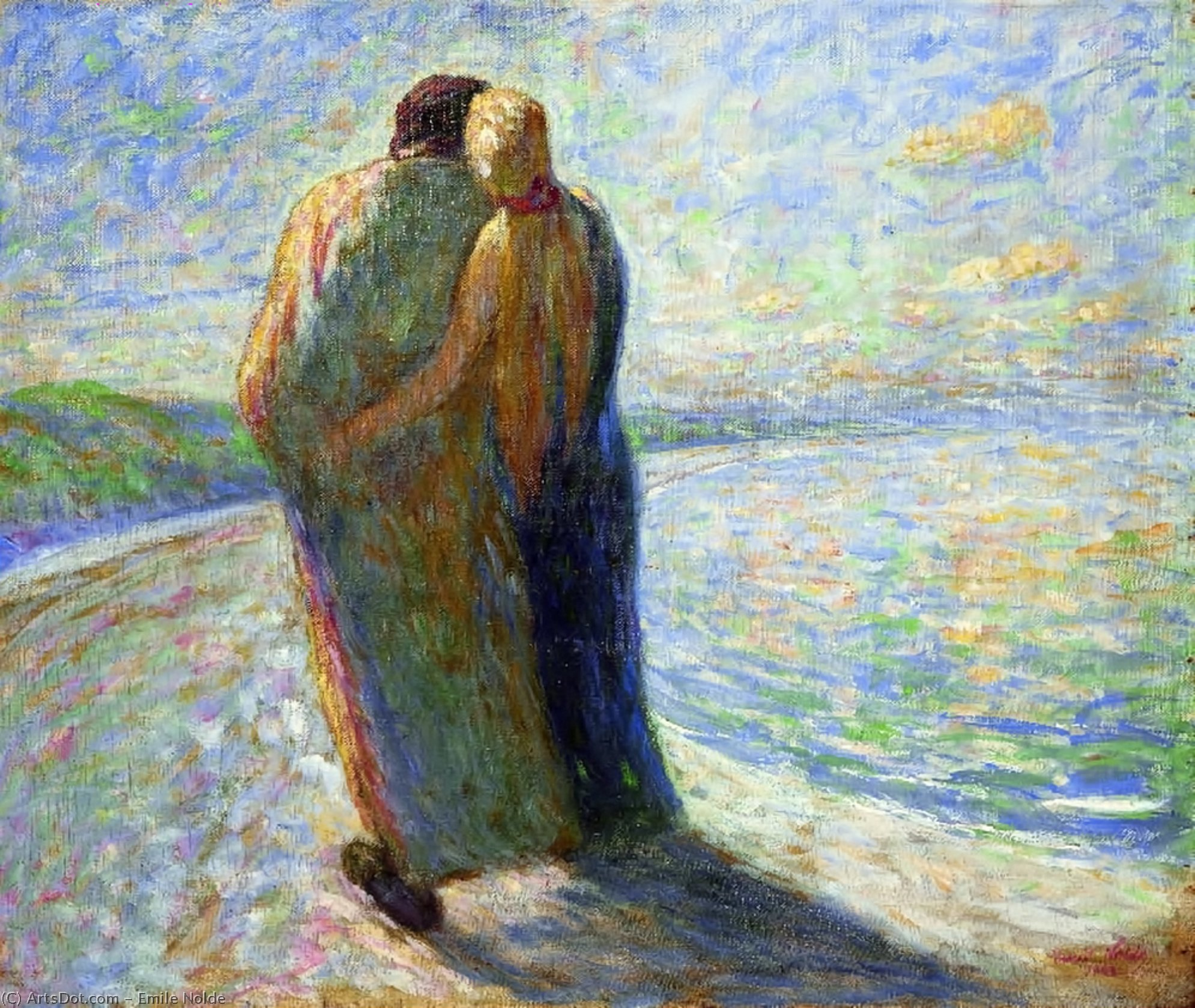 couple sur la plage, 1903 de Emile Nolde (1867-1956, Germany)