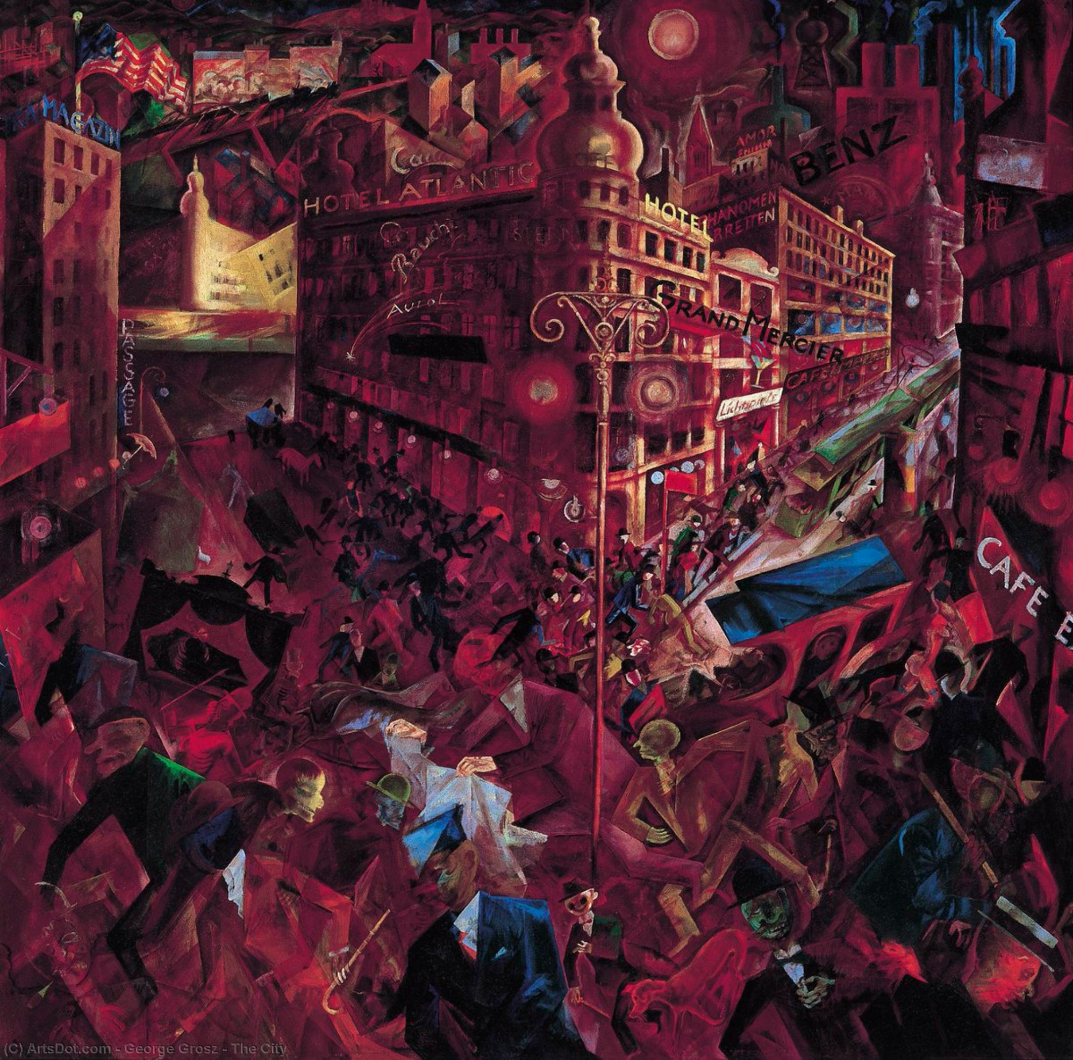 de la ville, 1917 de George Grosz (1893-1959, Germany) | Reproductions D'art De Musée | ArtsDot.com