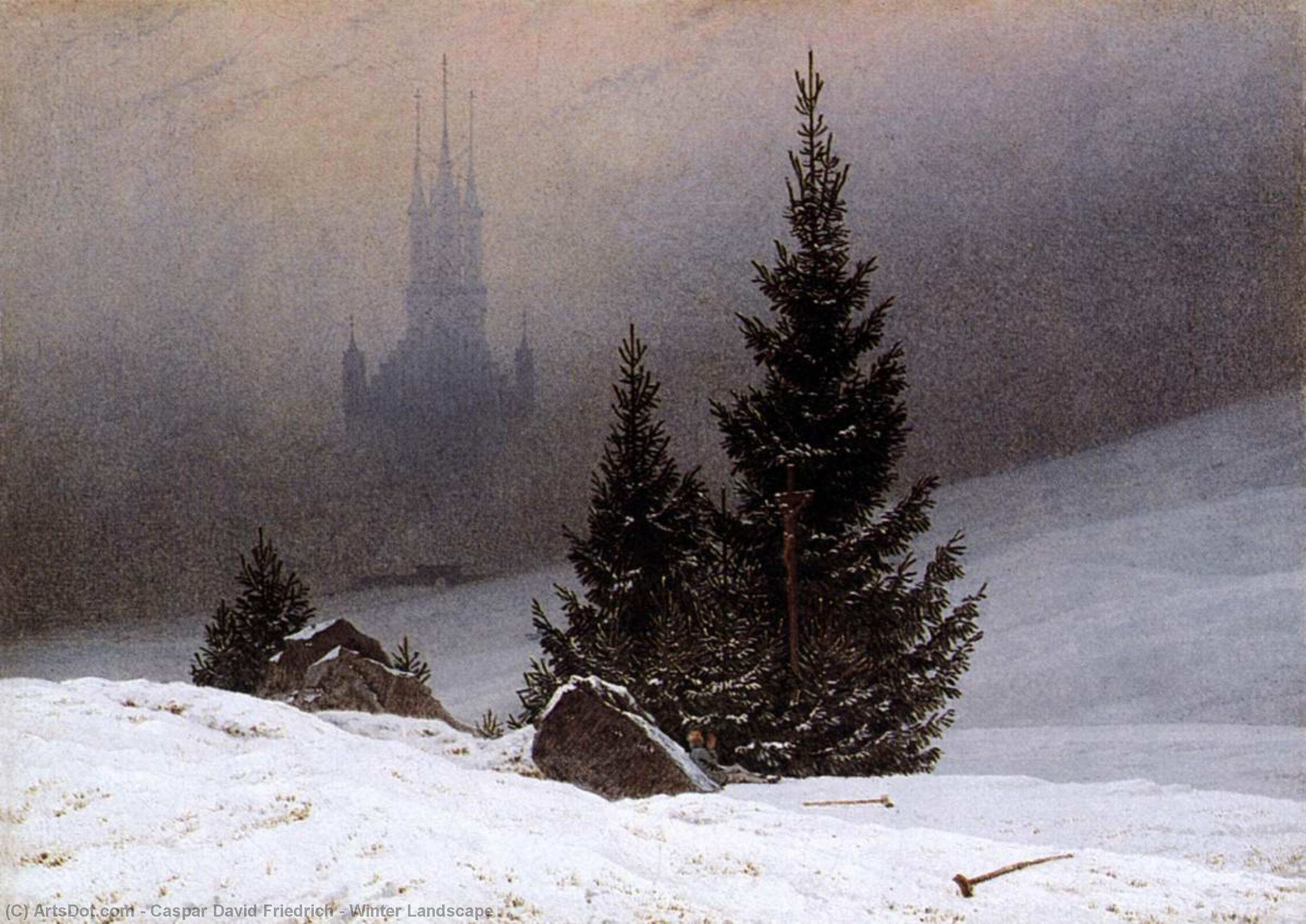 paysage d`hiver, 1811 de Caspar David Friedrich (1774-1840, Germany) | Reproductions D'art Caspar David Friedrich | ArtsDot.com