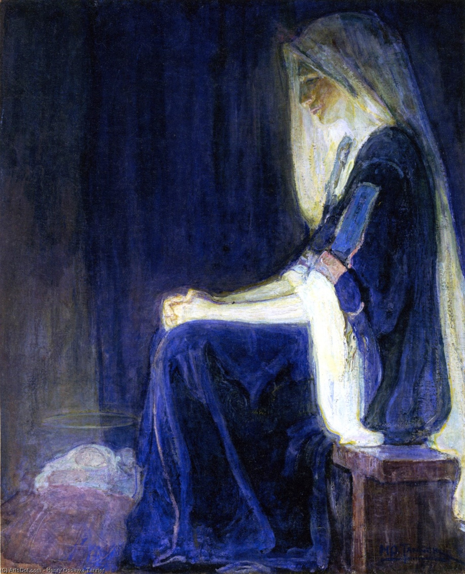 marie, huile sur toile de Henry Ossawa Tanner (1859-1937, United States)