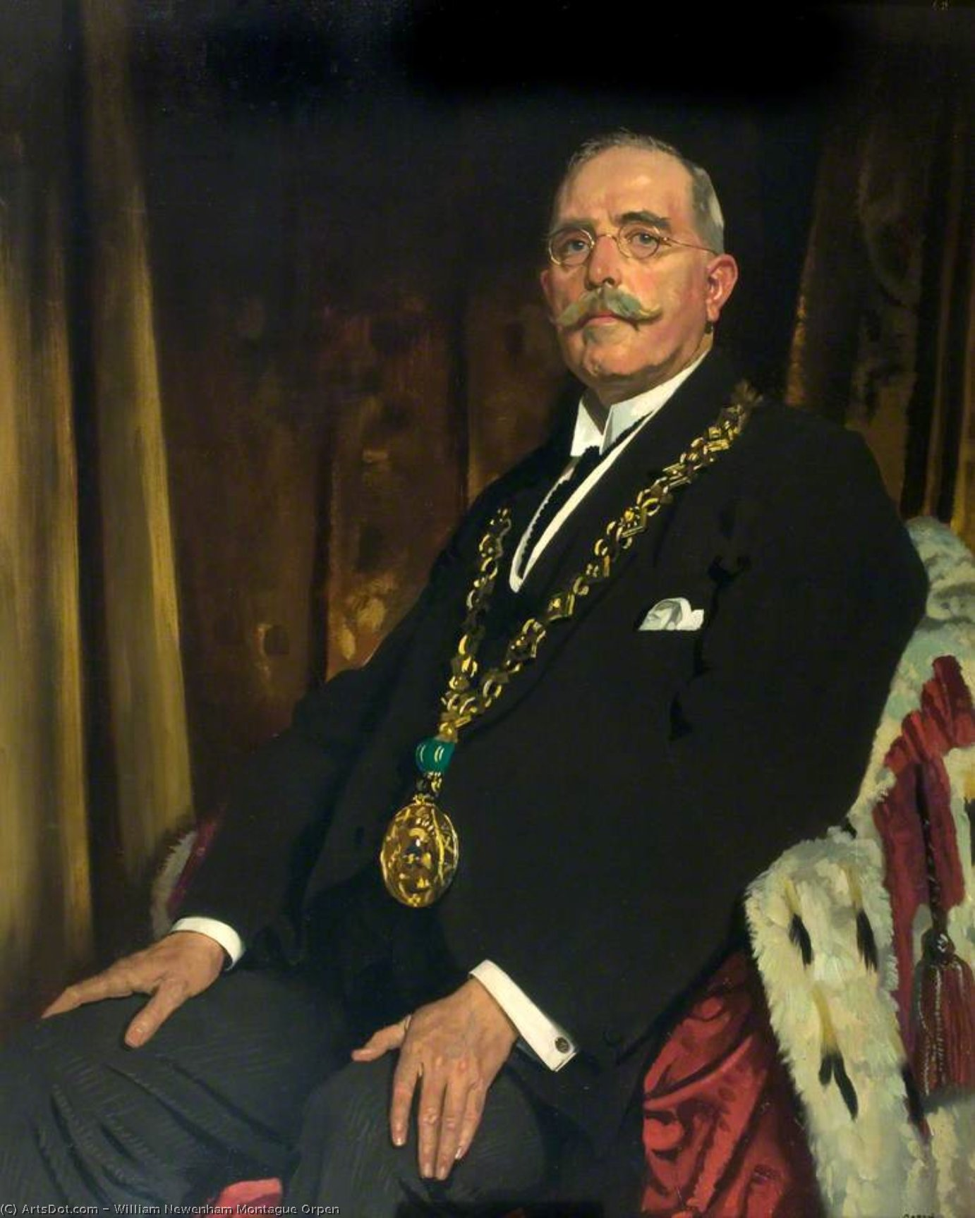Monsieur Alexandre Spence de William Newenham Montague Orpen (1878-1931, Ireland)
