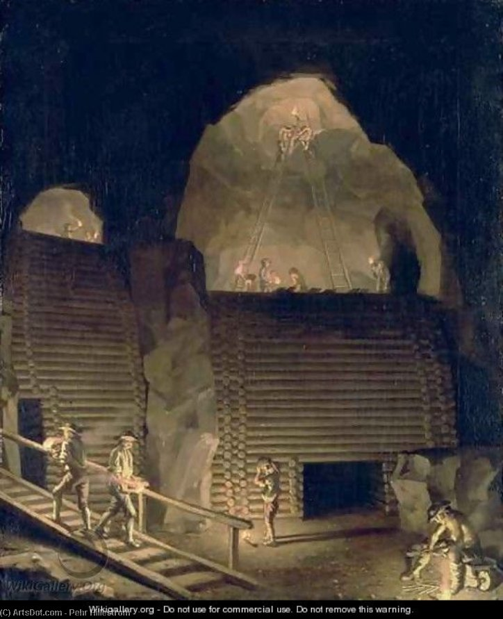 falun copper mine de Pehr Hillestrom (1732-1816, Sweden)