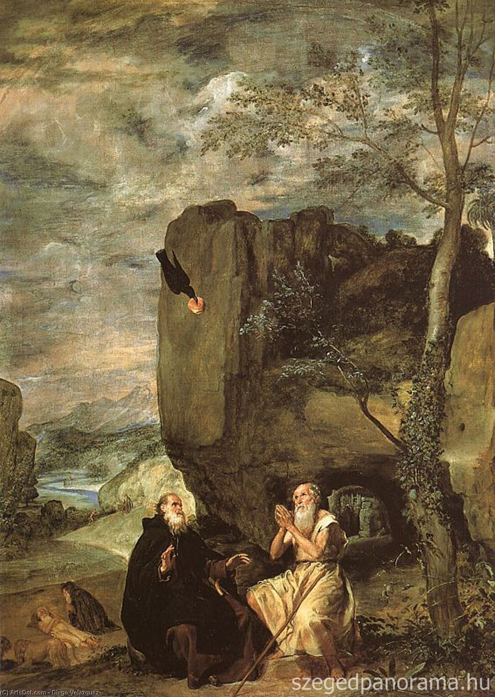 saint anthony Abbé & Saint paul le ermite de Diego Velazquez (1599-1660, Spain)