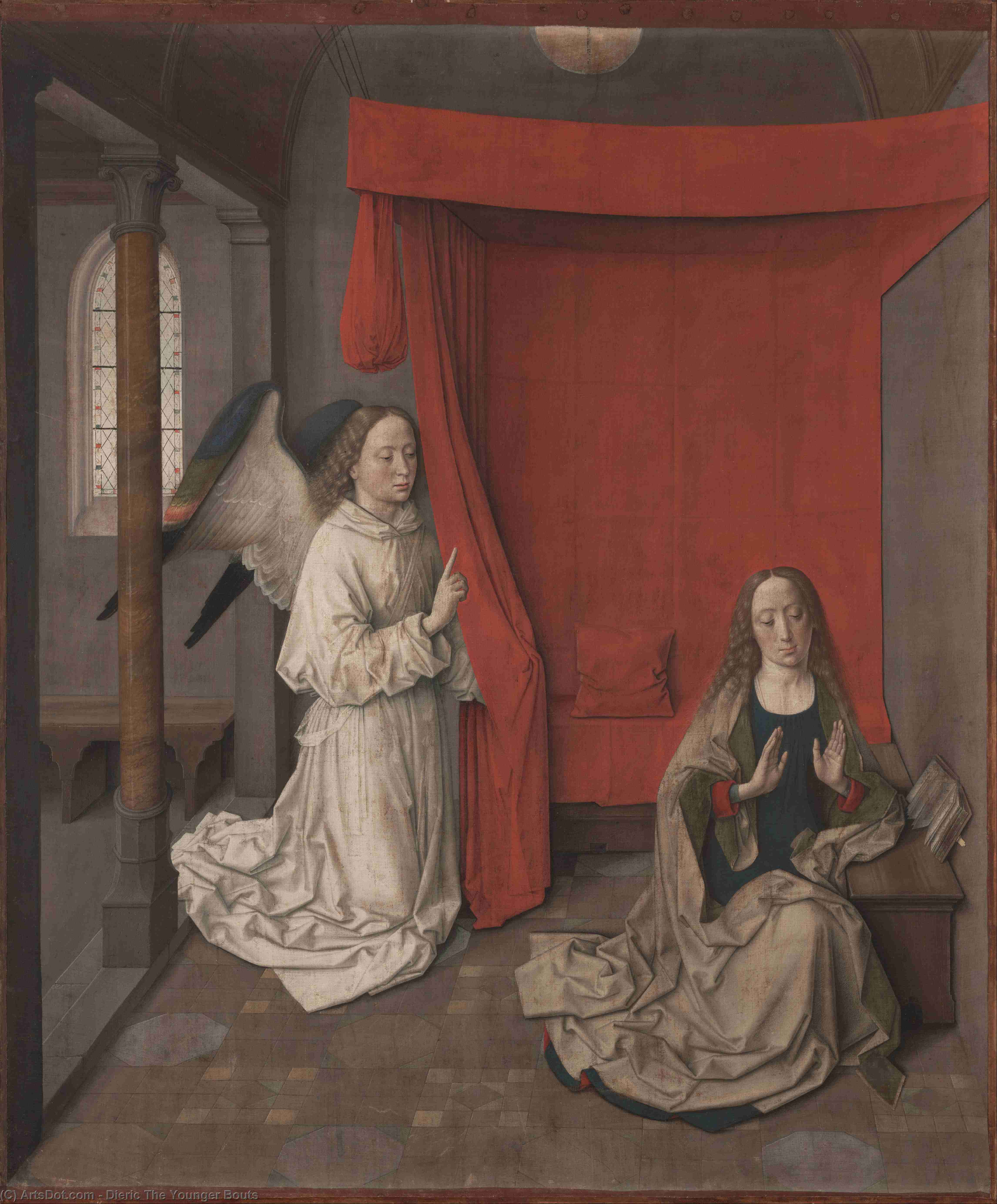 Annonciation de Dieric The Younger Bouts (1415-1475, Belgium) | Reproductions De Qualité Musée | ArtsDot.com