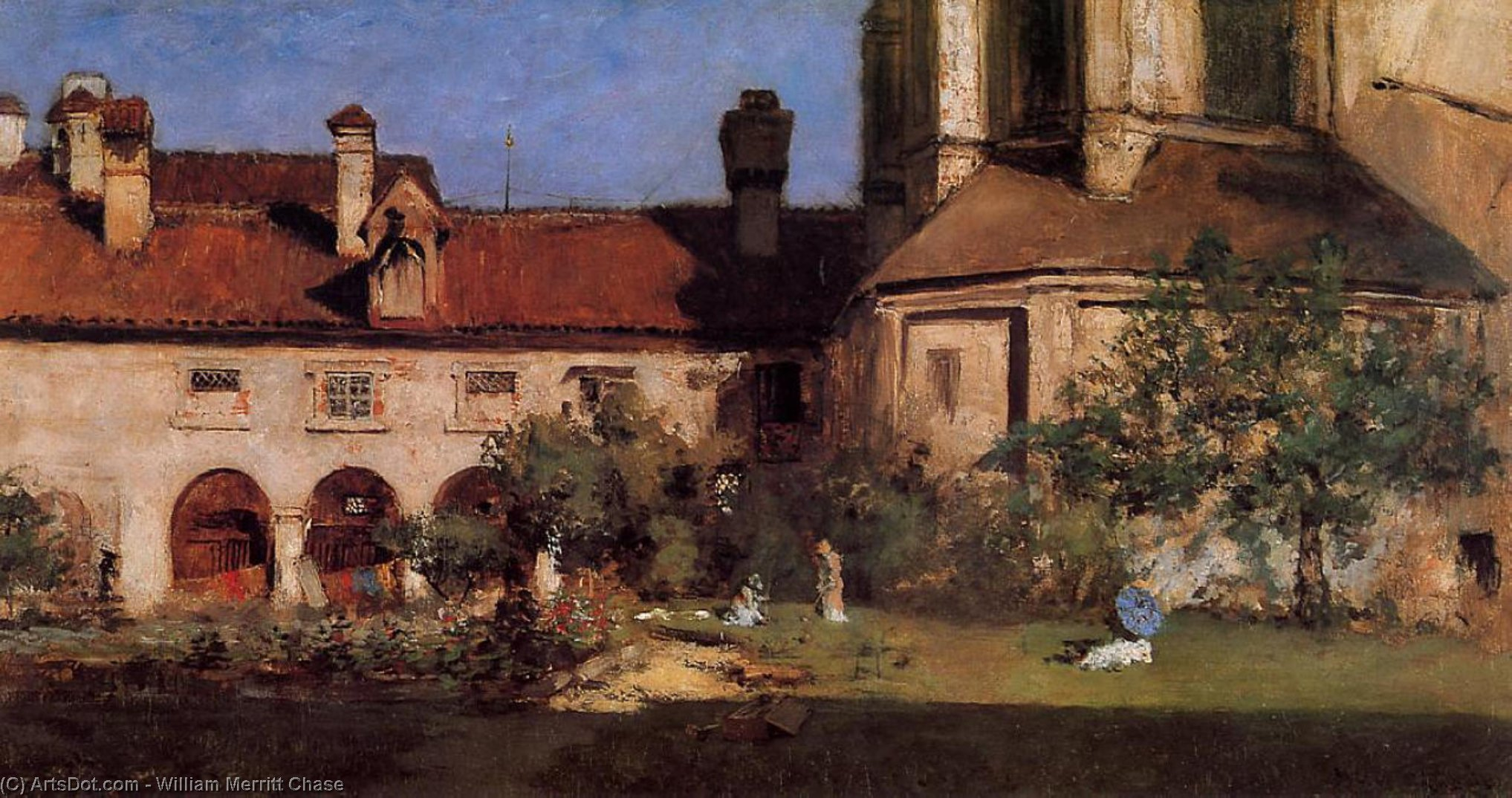 la des cloîtres , 1880 de William Merritt Chase (1849-1916, United States)