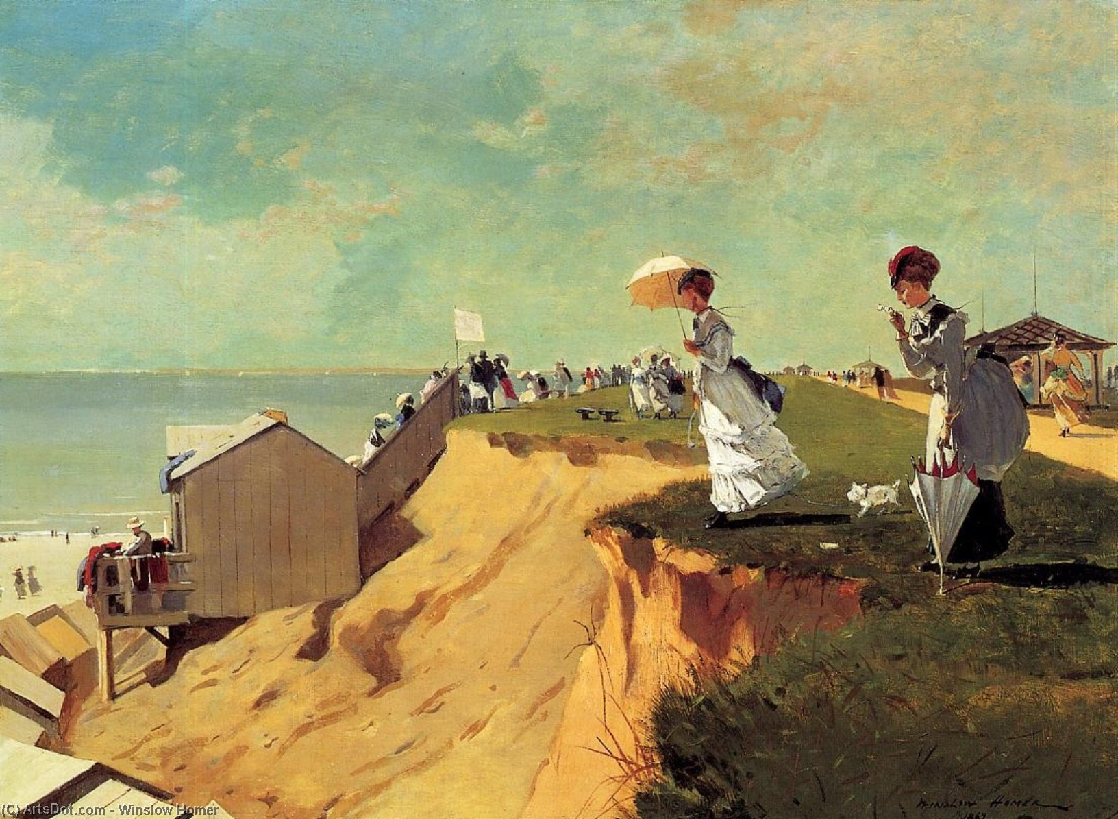 longue branche , new jersey, 1869 de Winslow Homer (1836-1910, United States) | Reproductions D'art Winslow Homer | ArtsDot.com