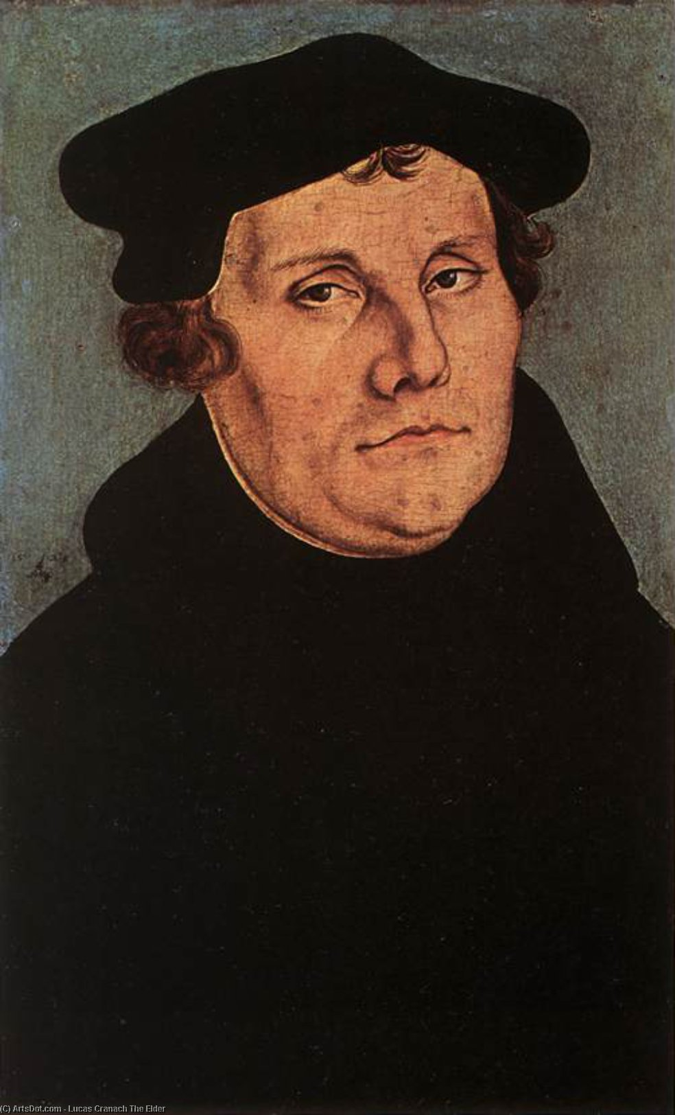 Portraits de Martin Luther, Huile de Lucas Cranach The Elder (1472-1553, Germany)