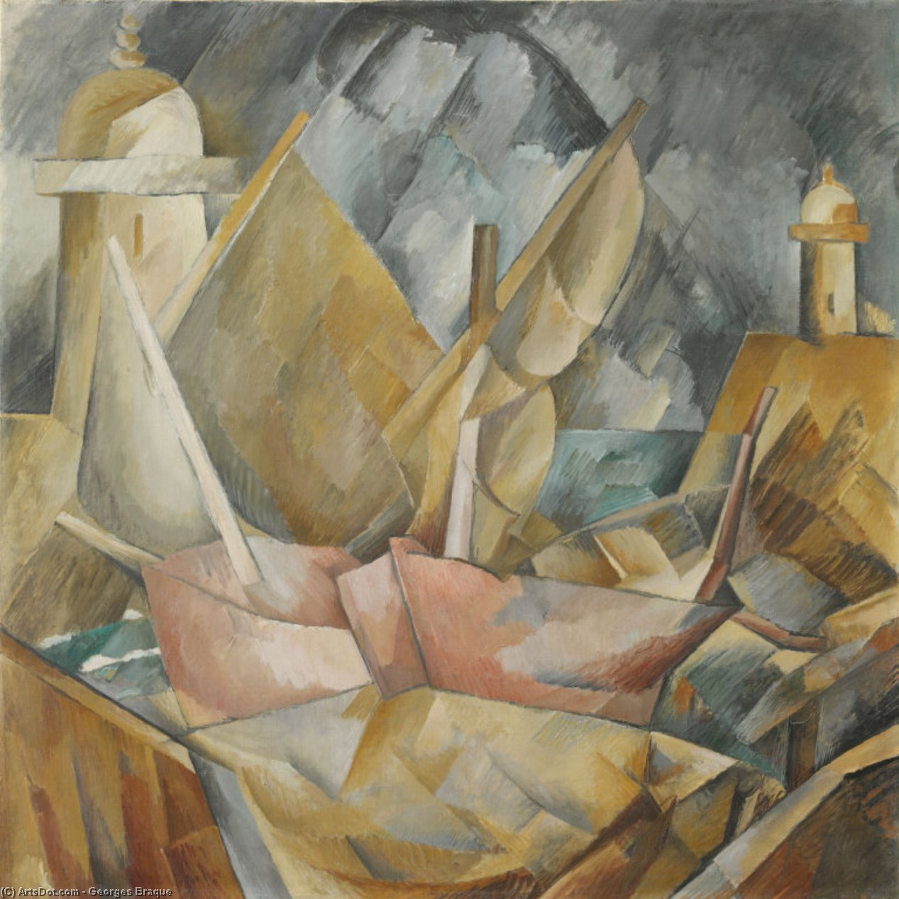 Port en Normandie, 1909 de Georges Braque (1882-1963, France) |  | ArtsDot.com