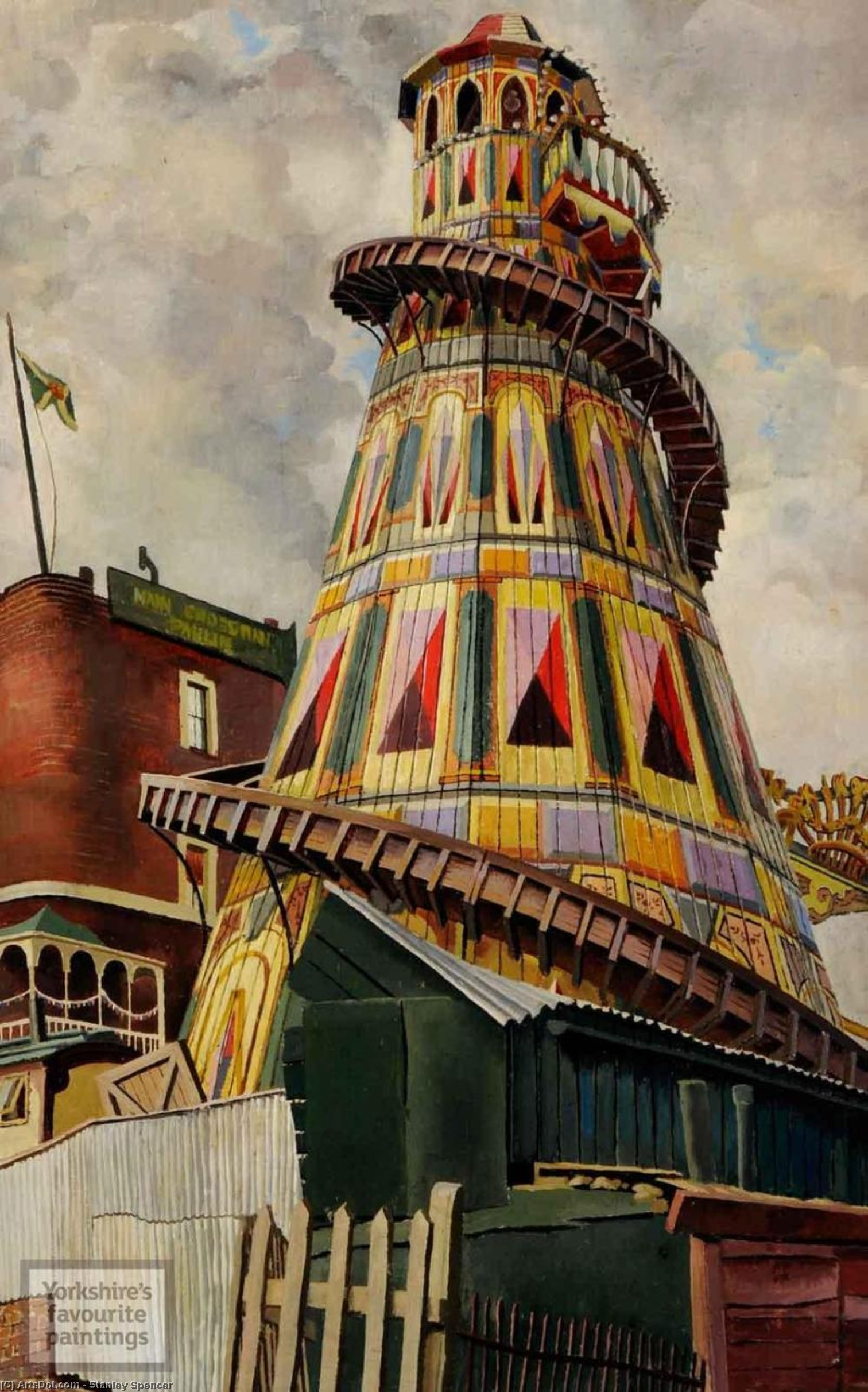 helter skelter . Hampstead Bruyère de Stanley Spencer (1891-1959, United Kingdom)