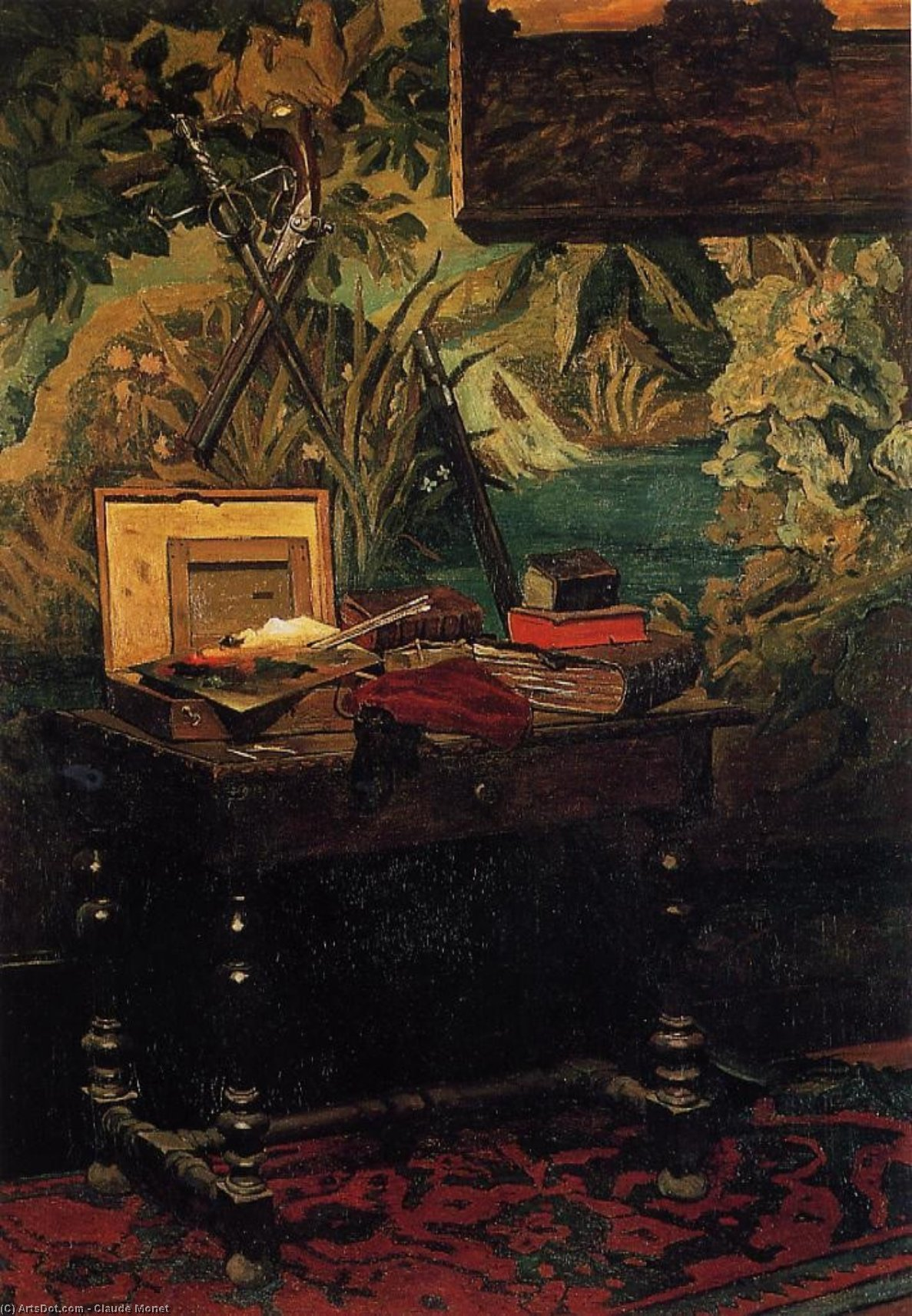 angle de a studio, 1861 de Claude Monet (1840-1926, France) | Reproductions D'art Claude Monet | ArtsDot.com