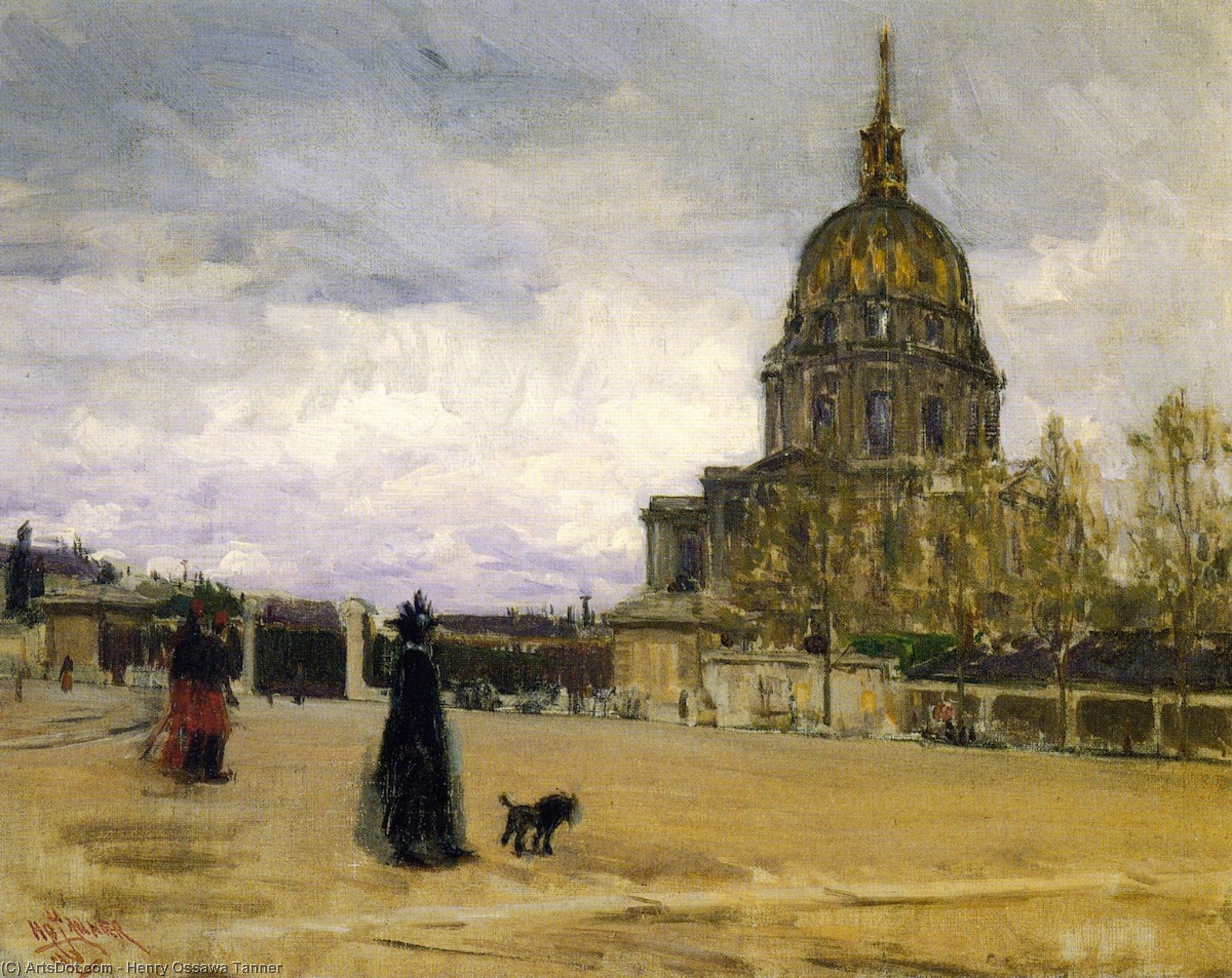 les invalides, huile sur toile de Henry Ossawa Tanner (1859-1937, United States)