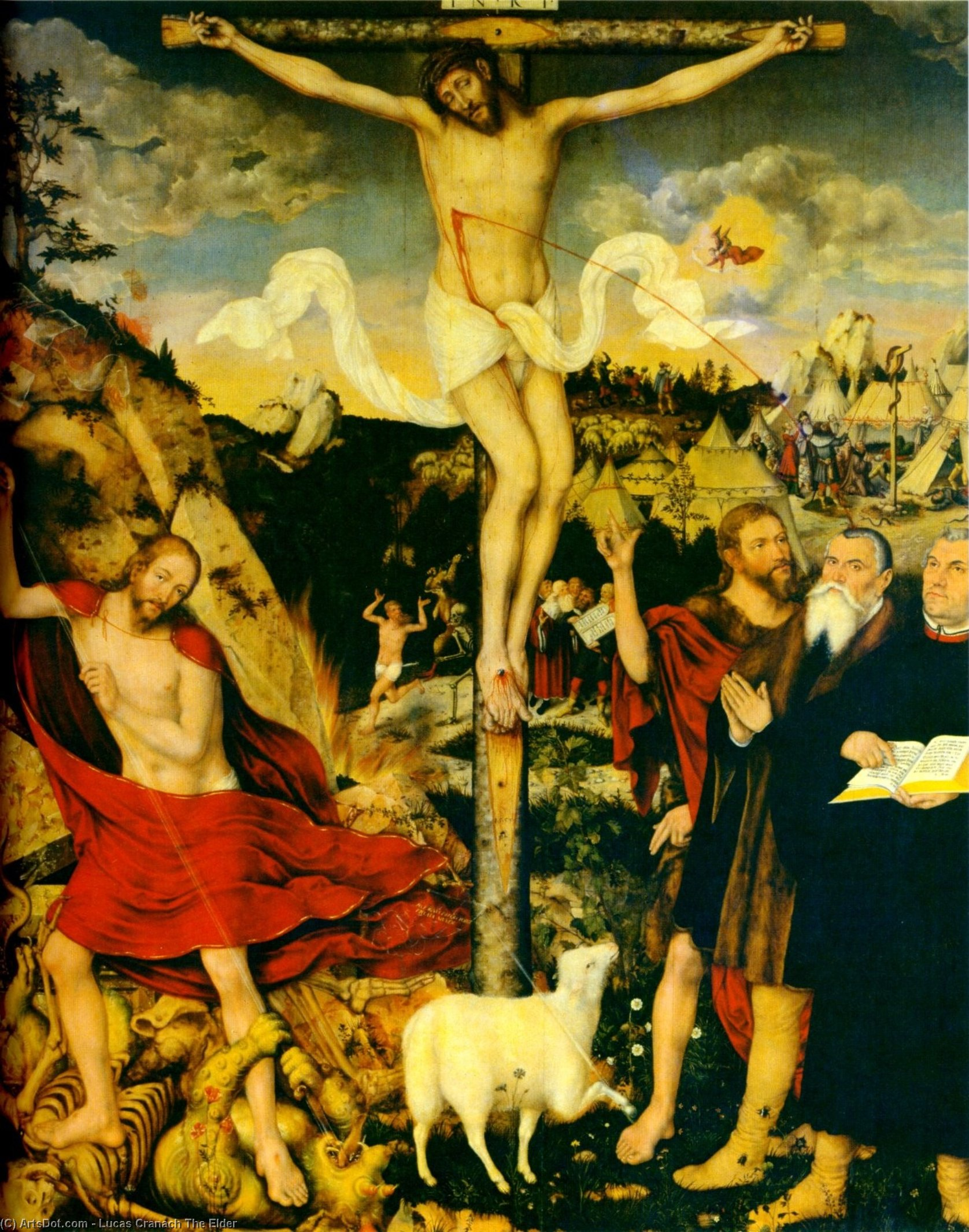 Christ comme Sauveur avec Martin Luther, 1552 de Lucas Cranach The Elder (1472-1553, Germany)