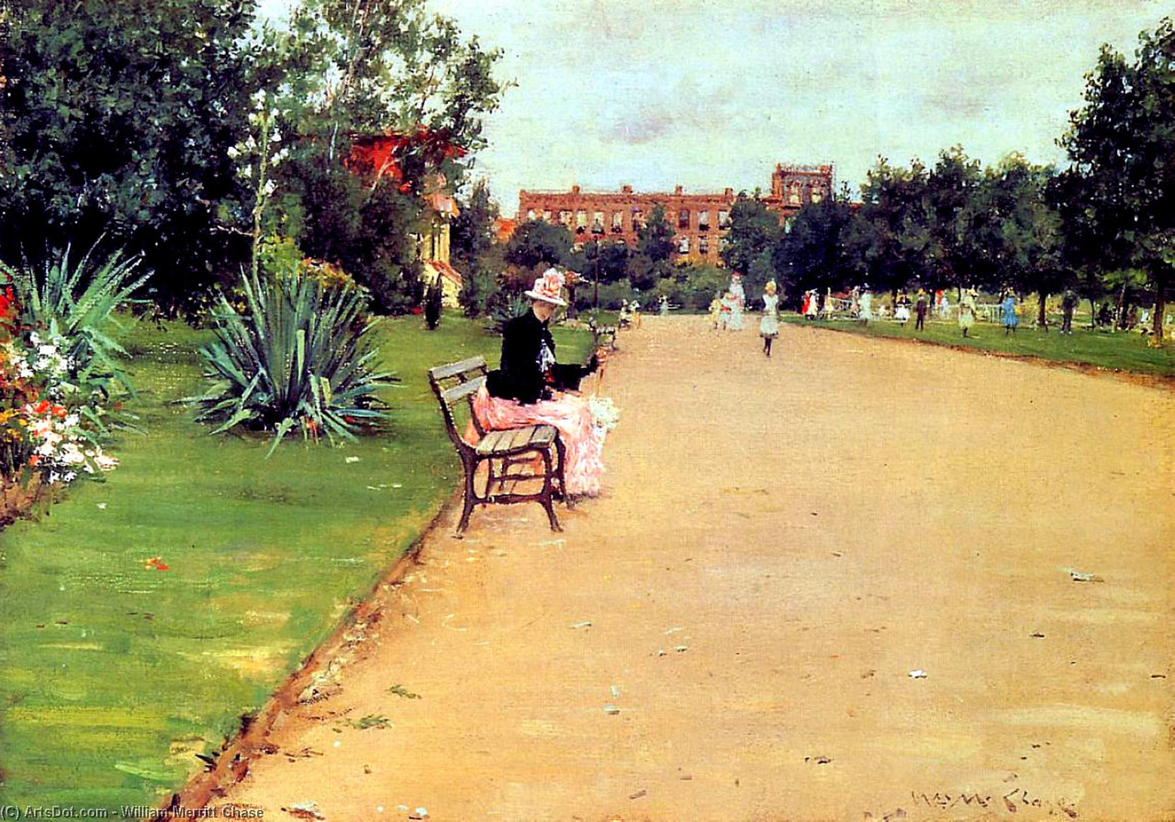 Le Parc 02  , 1887 de William Merritt Chase  (acheter Fine Art reproduction peinture William Merritt Chase)