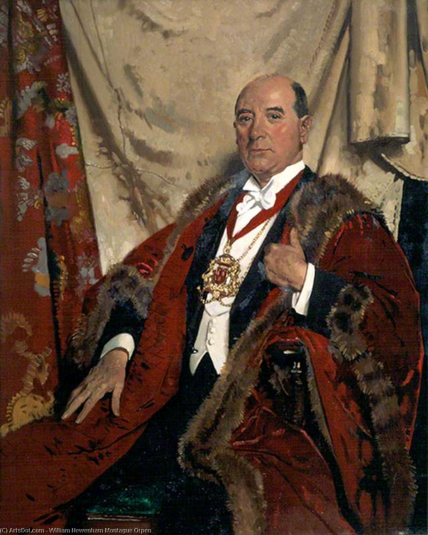 Monsieur andrew lewis , Lld , lord provost d aberdeen de William Newenham Montague Orpen (1878-1931, Ireland) | Reproduction Peinture | ArtsDot.com