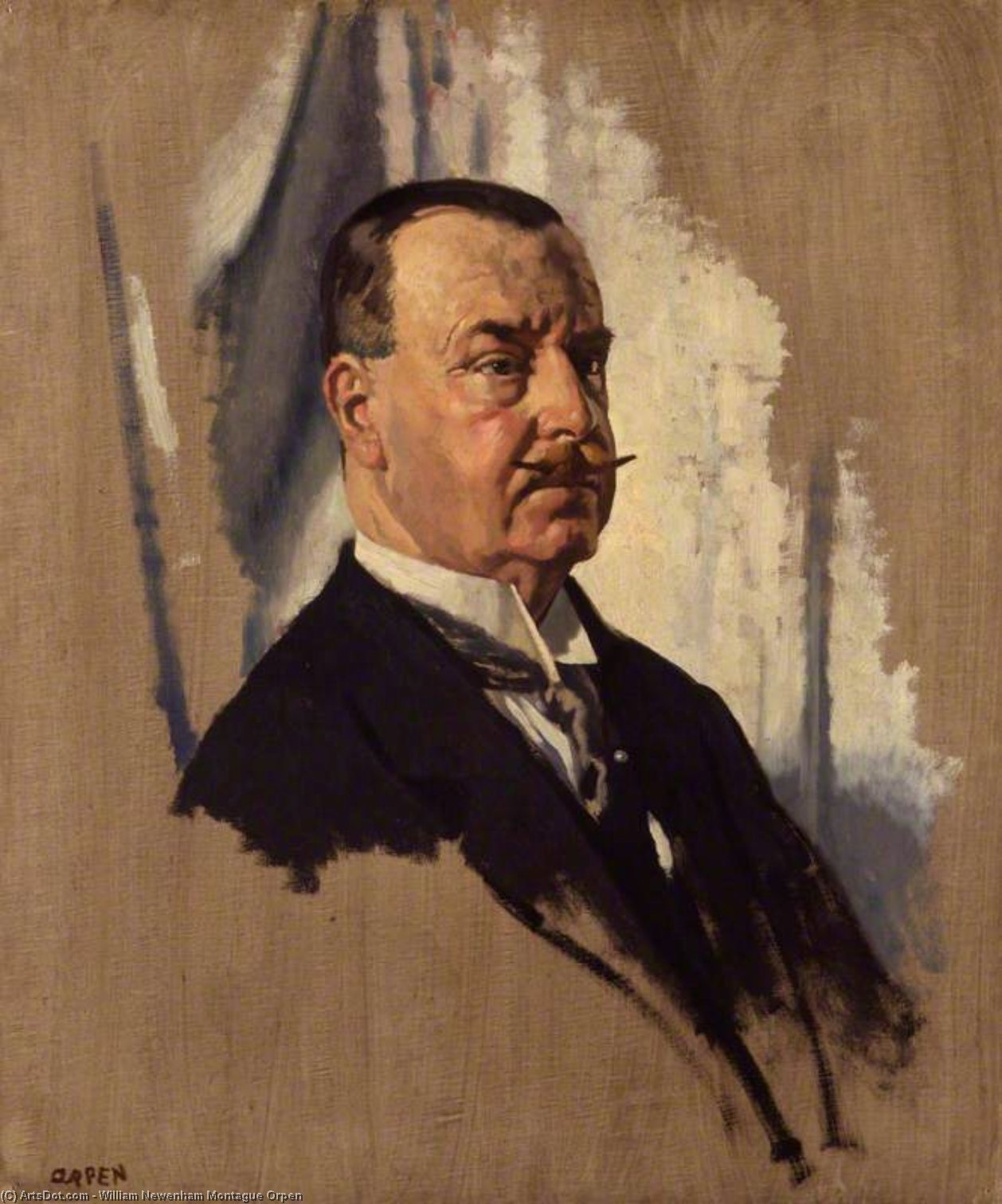 Monsieur De joseph George Quartier , 1st Bt de William Newenham Montague Orpen (1878-1931, Ireland) | Reproduction Peinture | ArtsDot.com