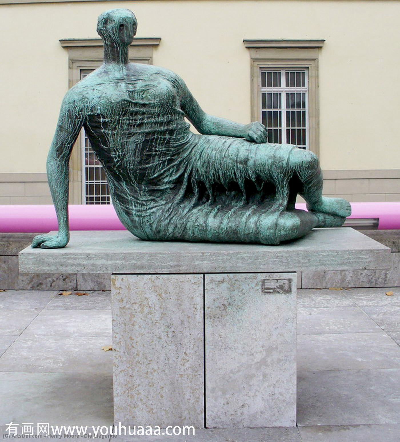 die liegende de Henry Moore (1898-1986, United Kingdom) | Copie Tableau | ArtsDot.com