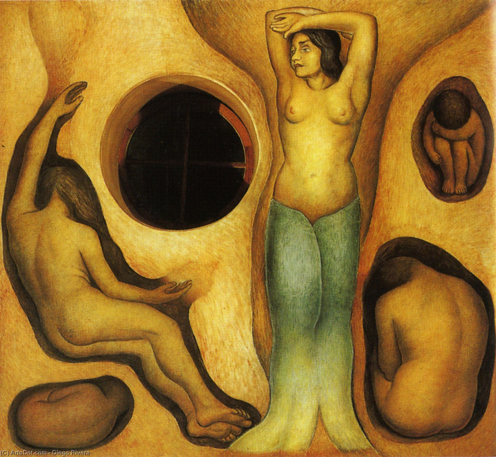 Germination, Huile de Diego Rivera (1886-1957, Mexico)
