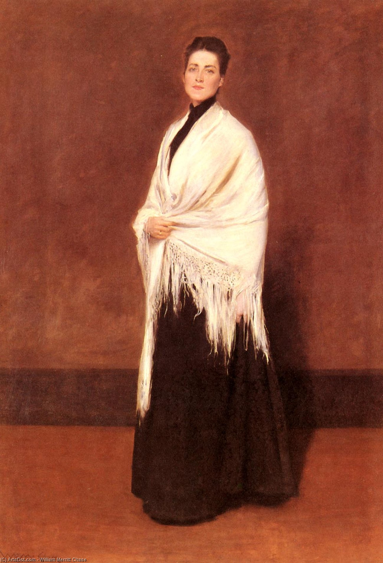 portrait de mme . C . 1, Huile de William Merritt Chase (1849-1916, United States)