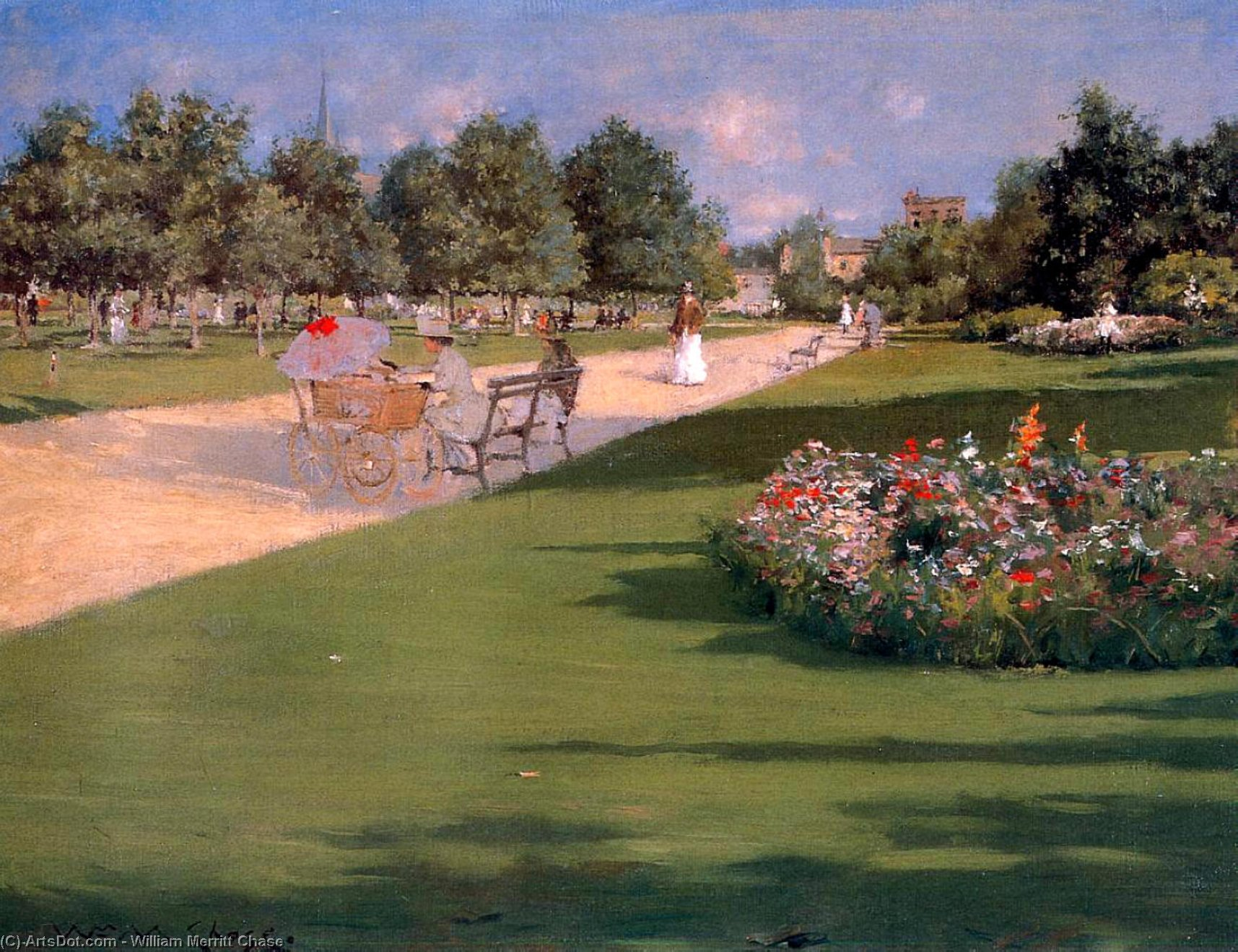 Tompkins Parc , Brooklyn, 1887 de William Merritt Chase (1849-1916, United States)