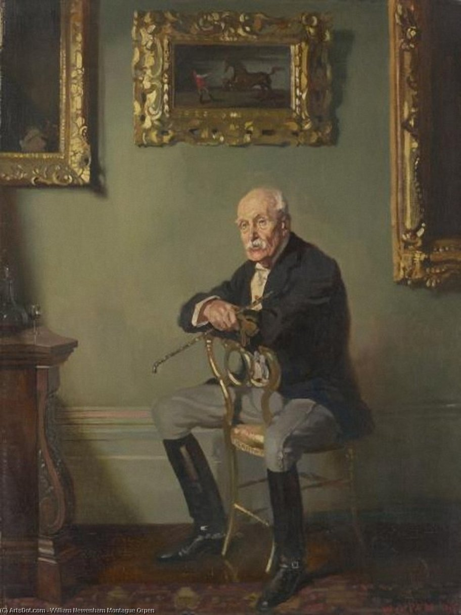 Gentleman en costume d équitation, huile sur toile de William Newenham Montague Orpen (1878-1931, Ireland)