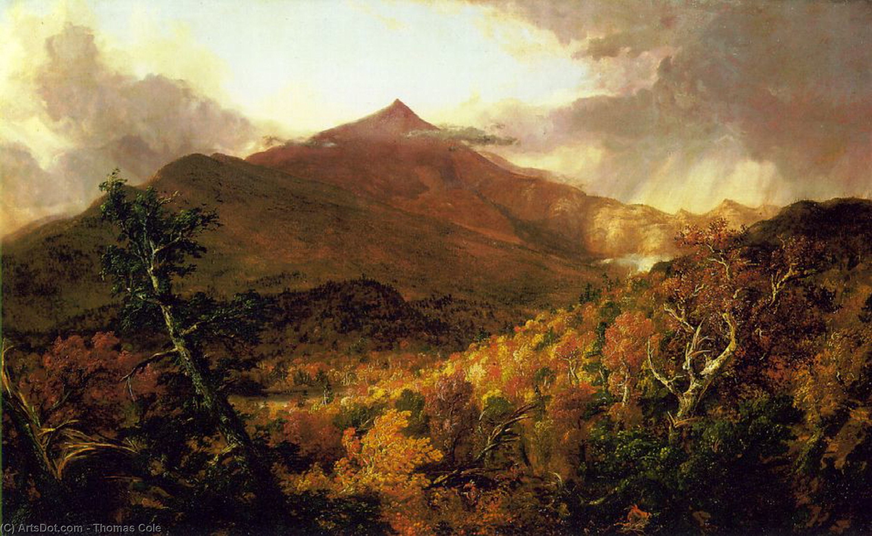 schroon montagne , Adirondacks, huile sur toile de Thomas Cole (1801-1848, United Kingdom)