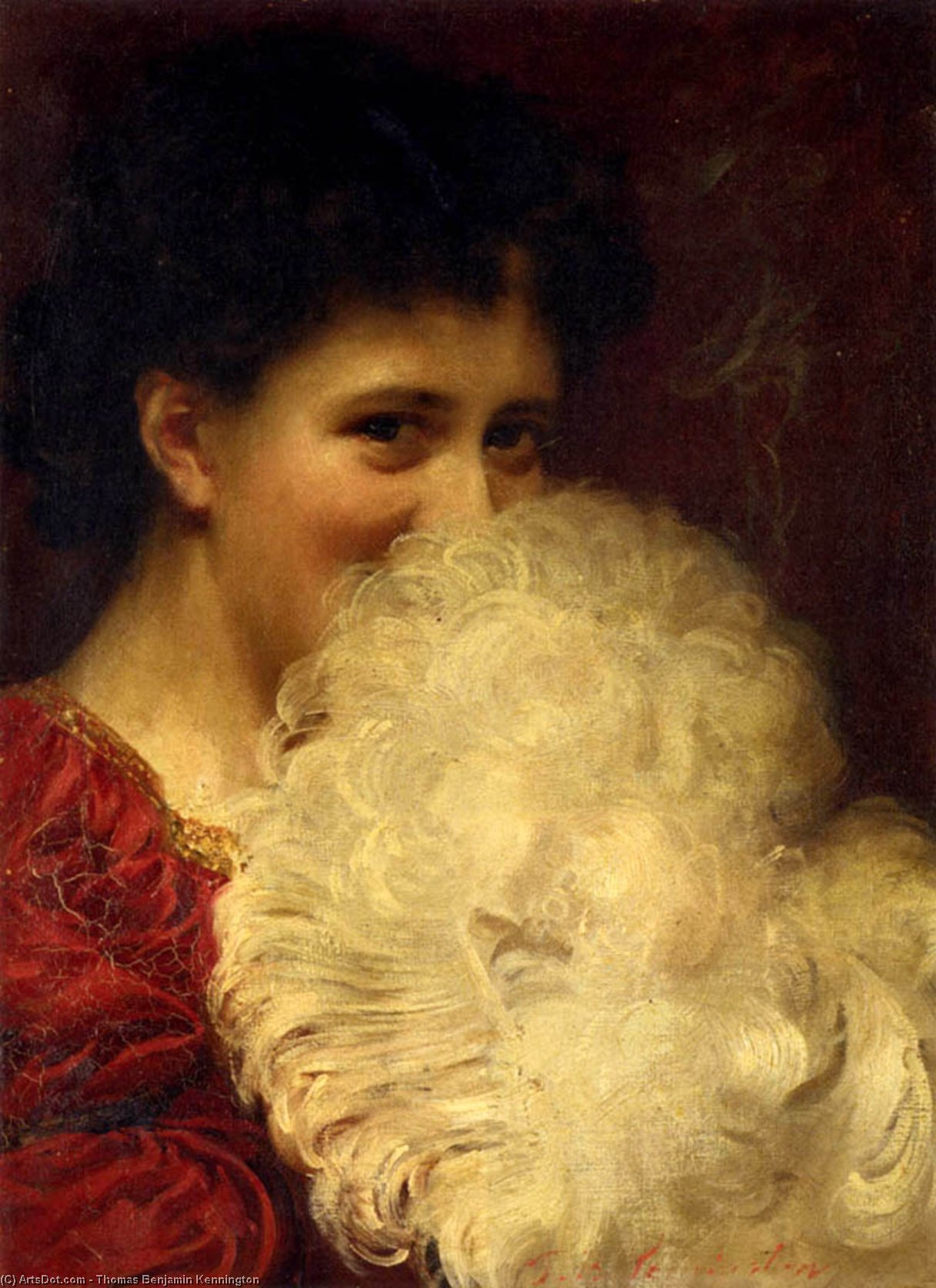 une panache de fumée  de Thomas Benjamin Kennington (1856-1916, United Kingdom)