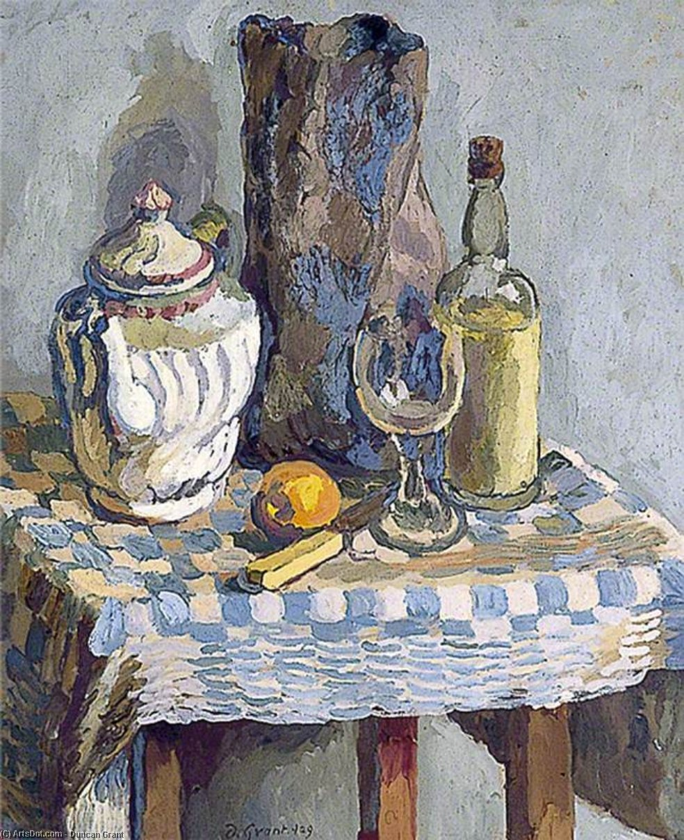 nature morte avec a thé pot de Duncan Grant (1885-1978, Scotland)