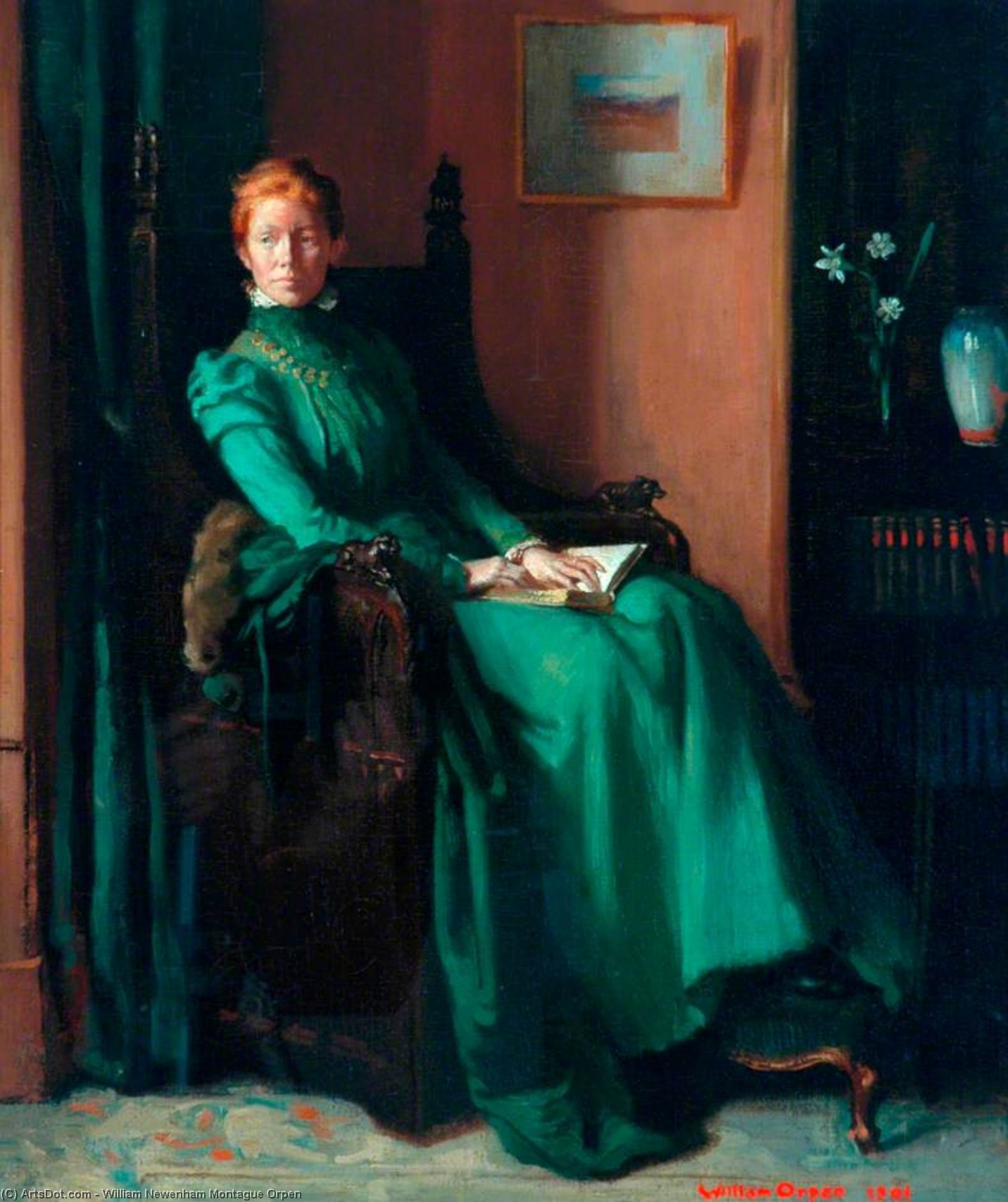 mme charles hughes de William Newenham Montague Orpen (1878-1931, Ireland) | Reproduction Peinture | ArtsDot.com