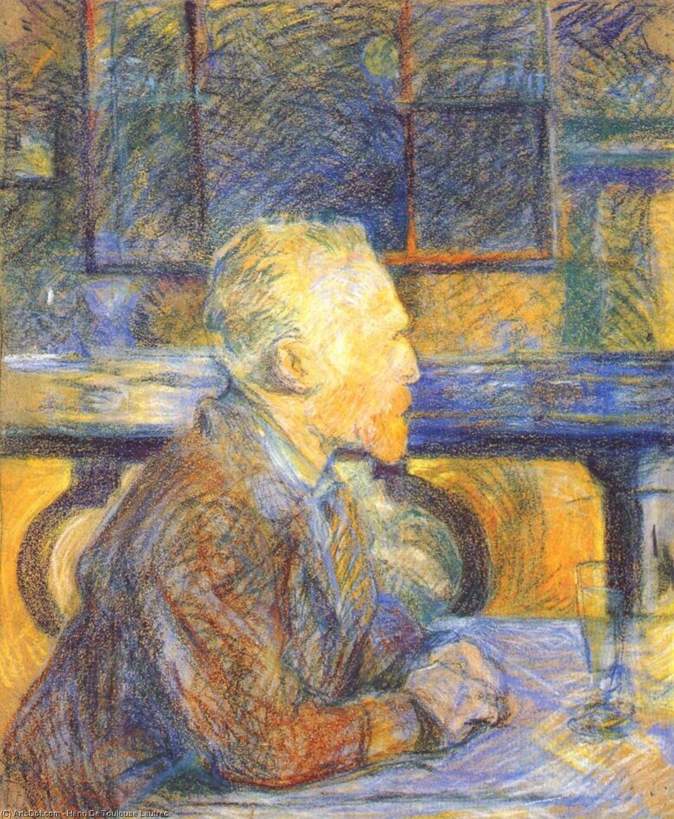 vincent vangogh, 1887 de Henri De Toulouse Lautrec (1864-1901, France)