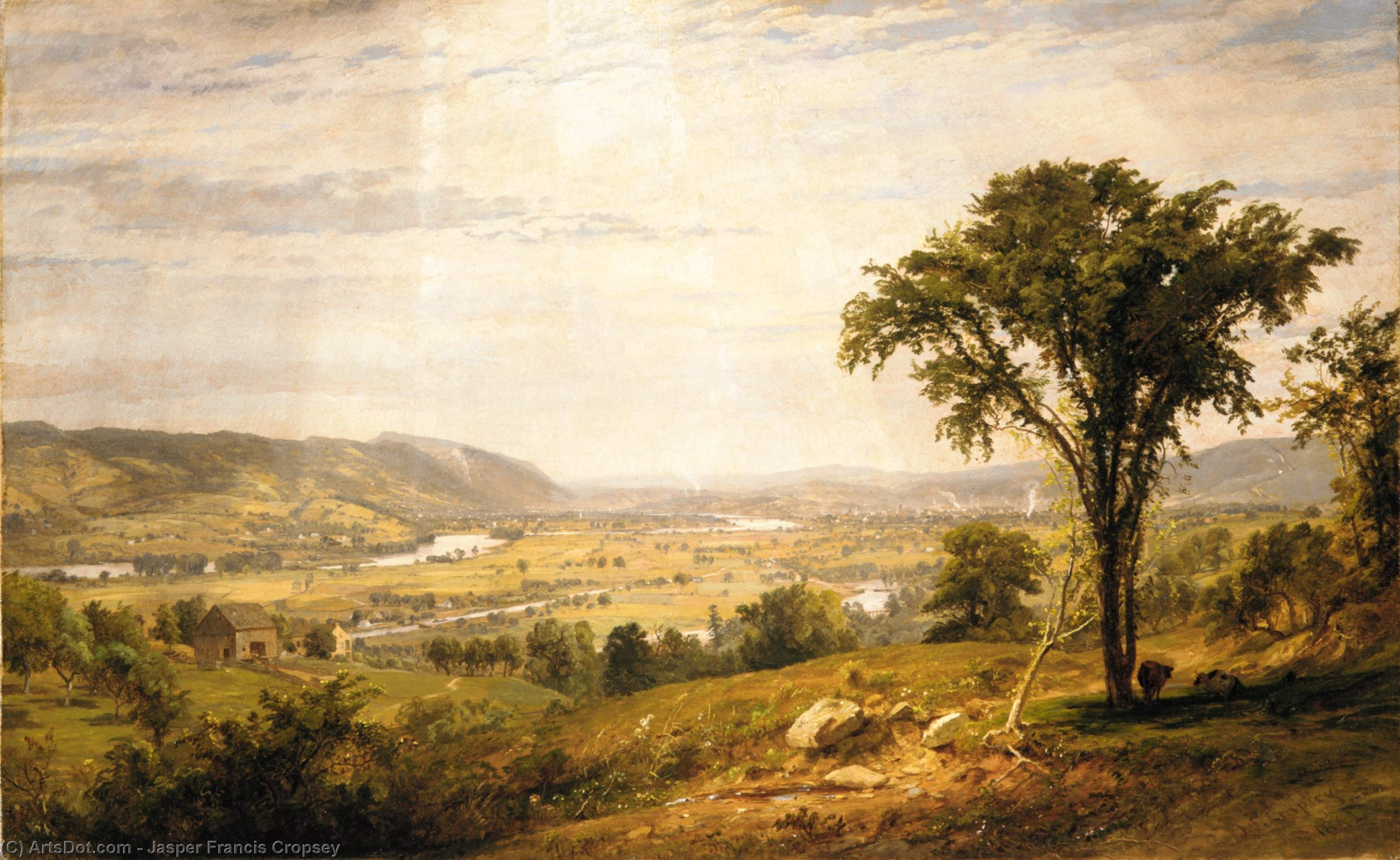 wyoming vallée pennsylvanie de Jasper Francis Cropsey (1823-1900, United States)