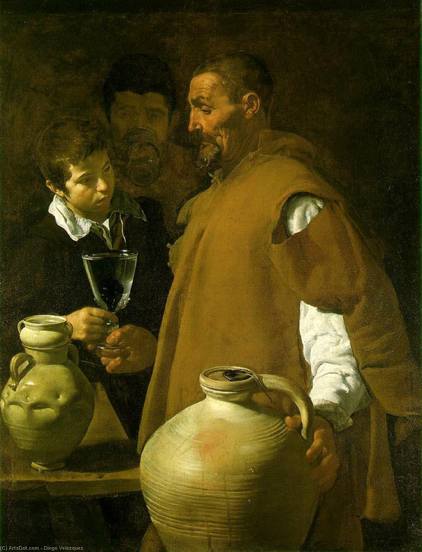 Waterseller séville de Diego Velazquez (1599-1660, Spain)