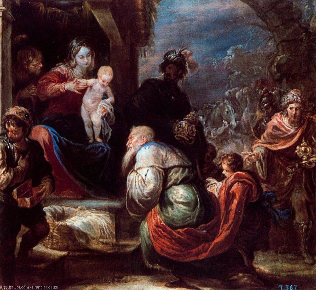 adoration Rois  de Francisco Rizi (1608-1685, Spain)