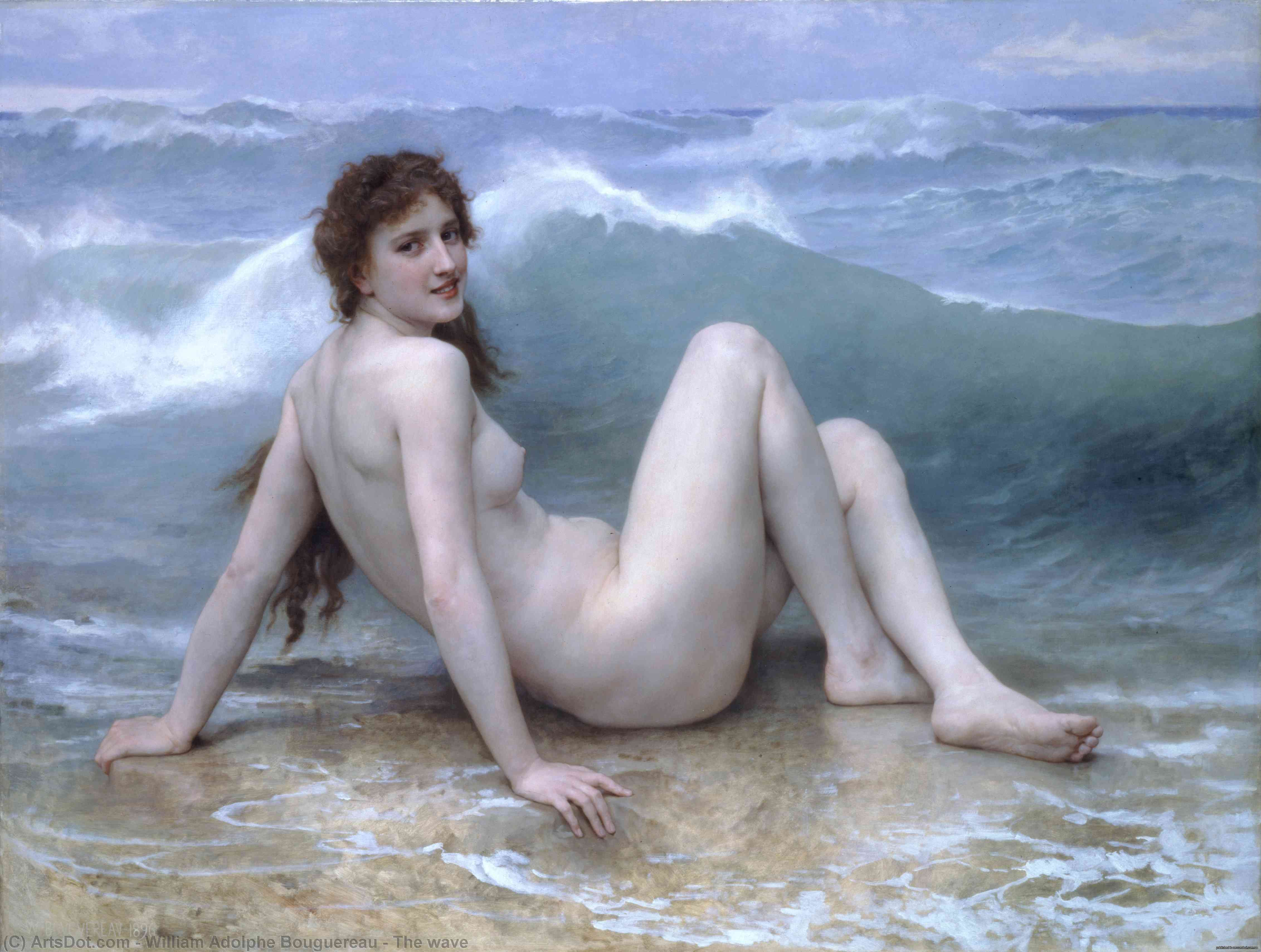 le onde, 1896 de William Adolphe Bouguereau (1825-1905, France) | Reproductions D'art William Adolphe Bouguereau | ArtsDot.com