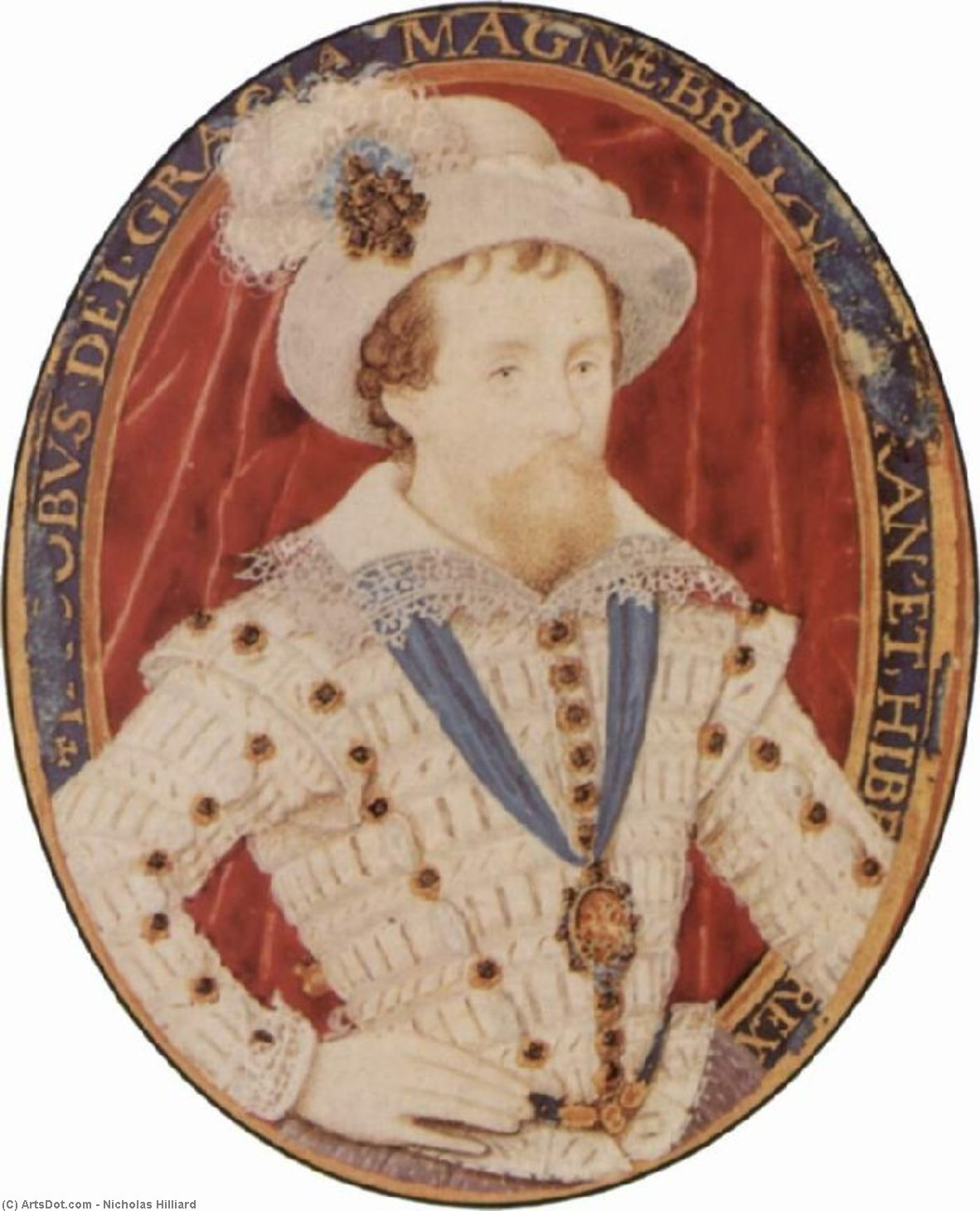 James Je, Huile de Nicholas Hilliard (1577-1619, United Kingdom)