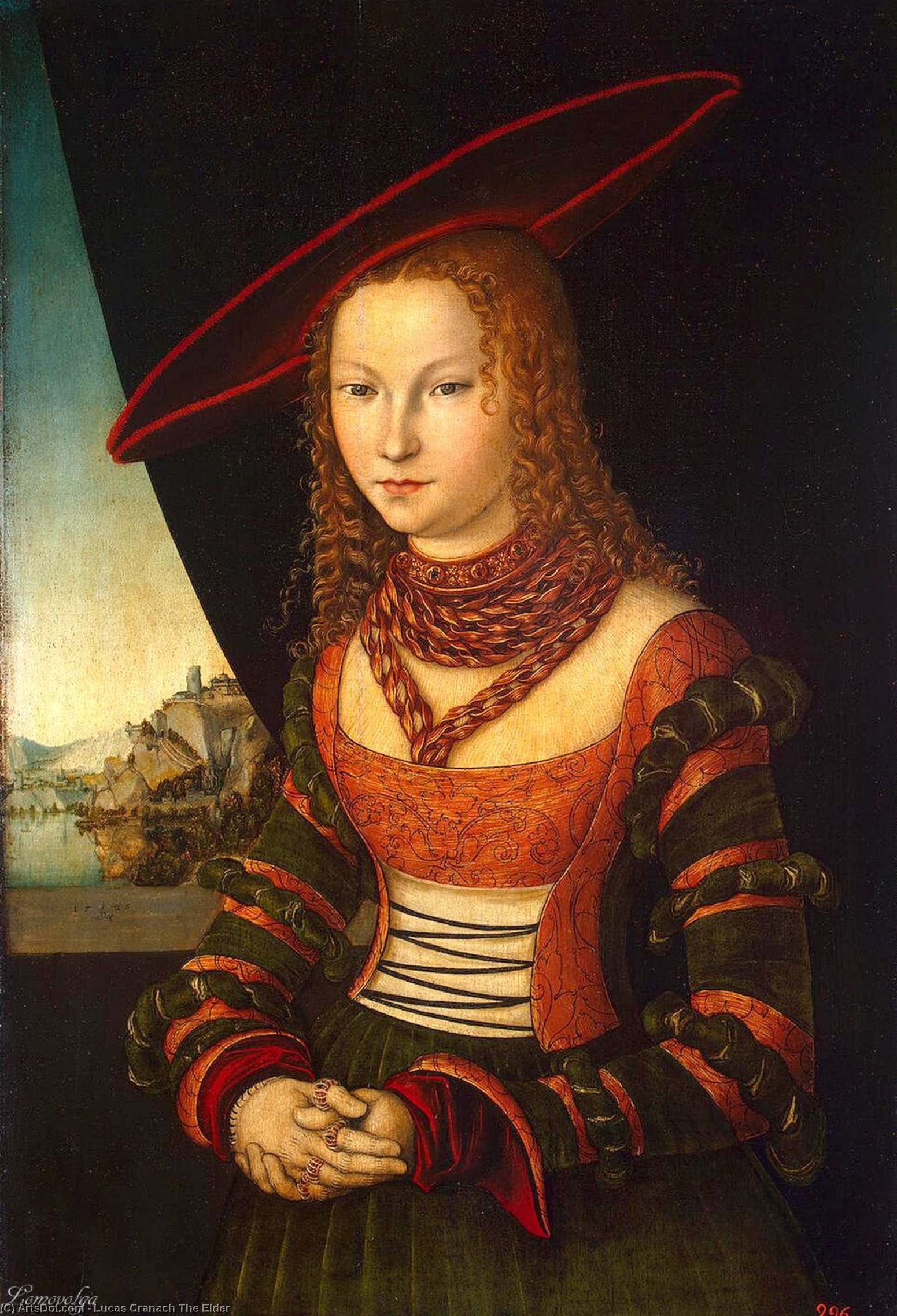 portrait d'un femme, Huile de Lucas Cranach The Elder (1472-1553, Germany)
