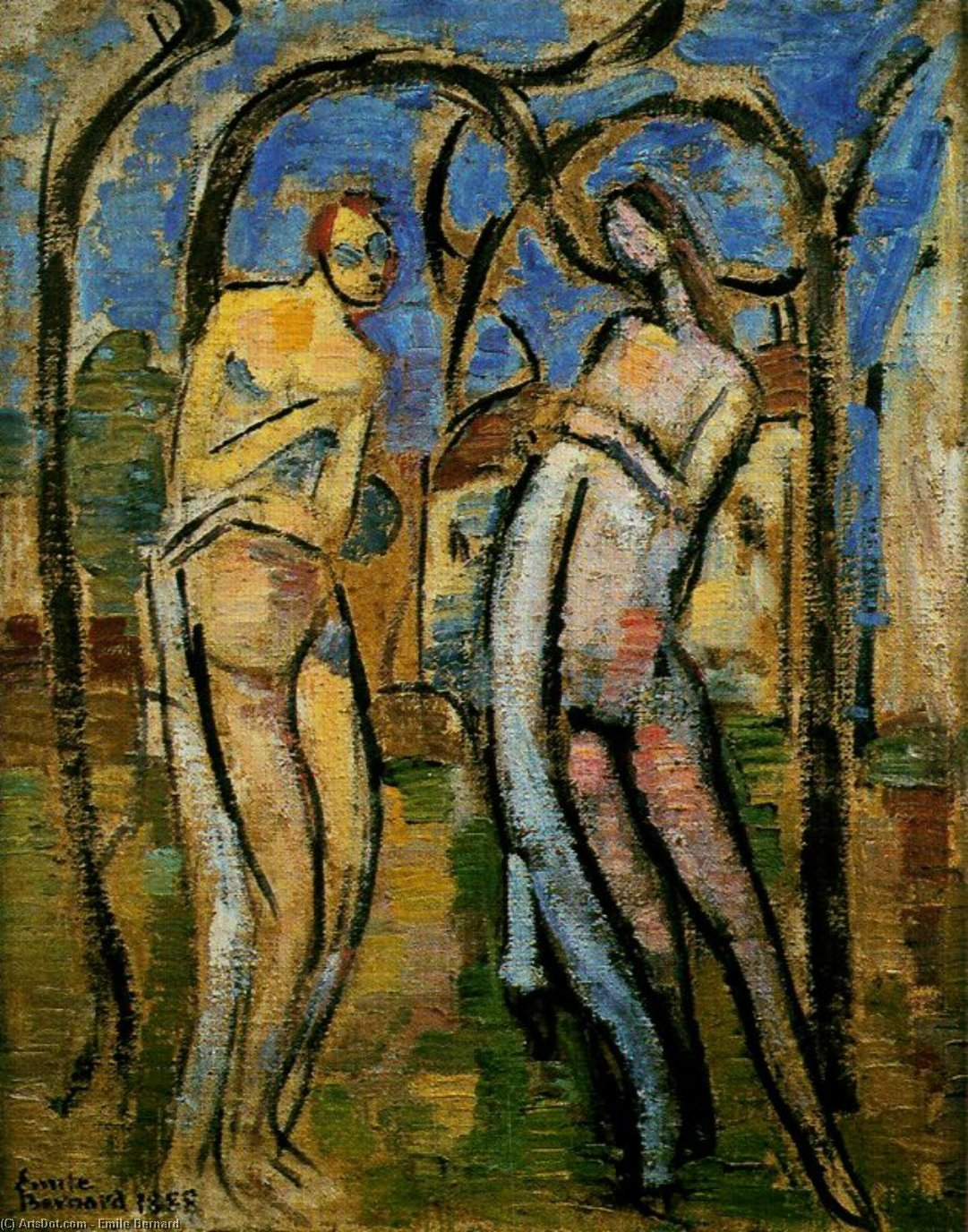eve et adam de Emile Bernard (1868-1941, France)