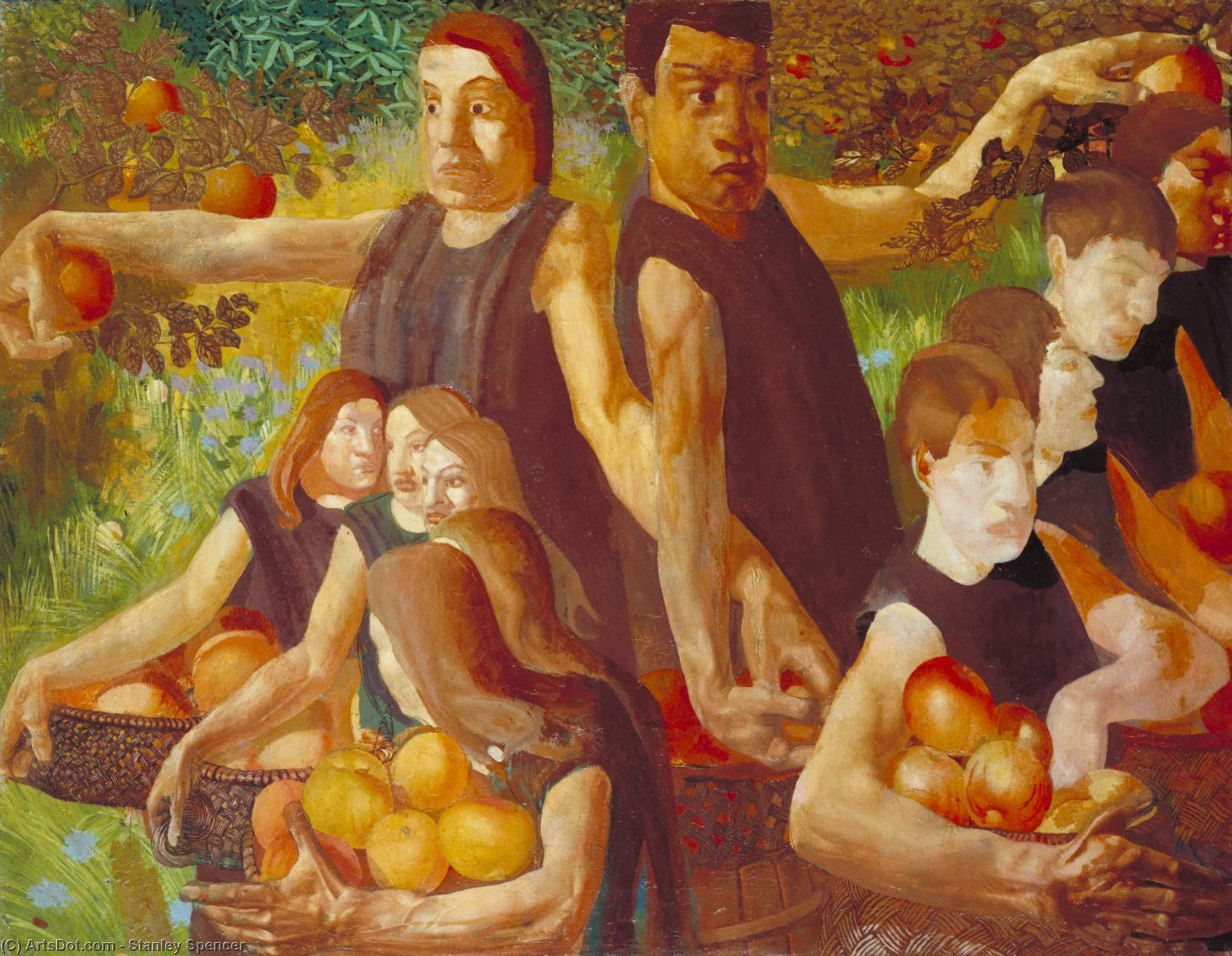 Apple a Gatherers de Stanley Spencer (1891-1959, United Kingdom)