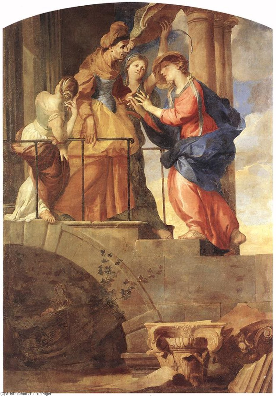 la Visitation, 1659 de Pierre Puget (1620-1694, France) | Reproductions D'art Sur Toile | ArtsDot.com