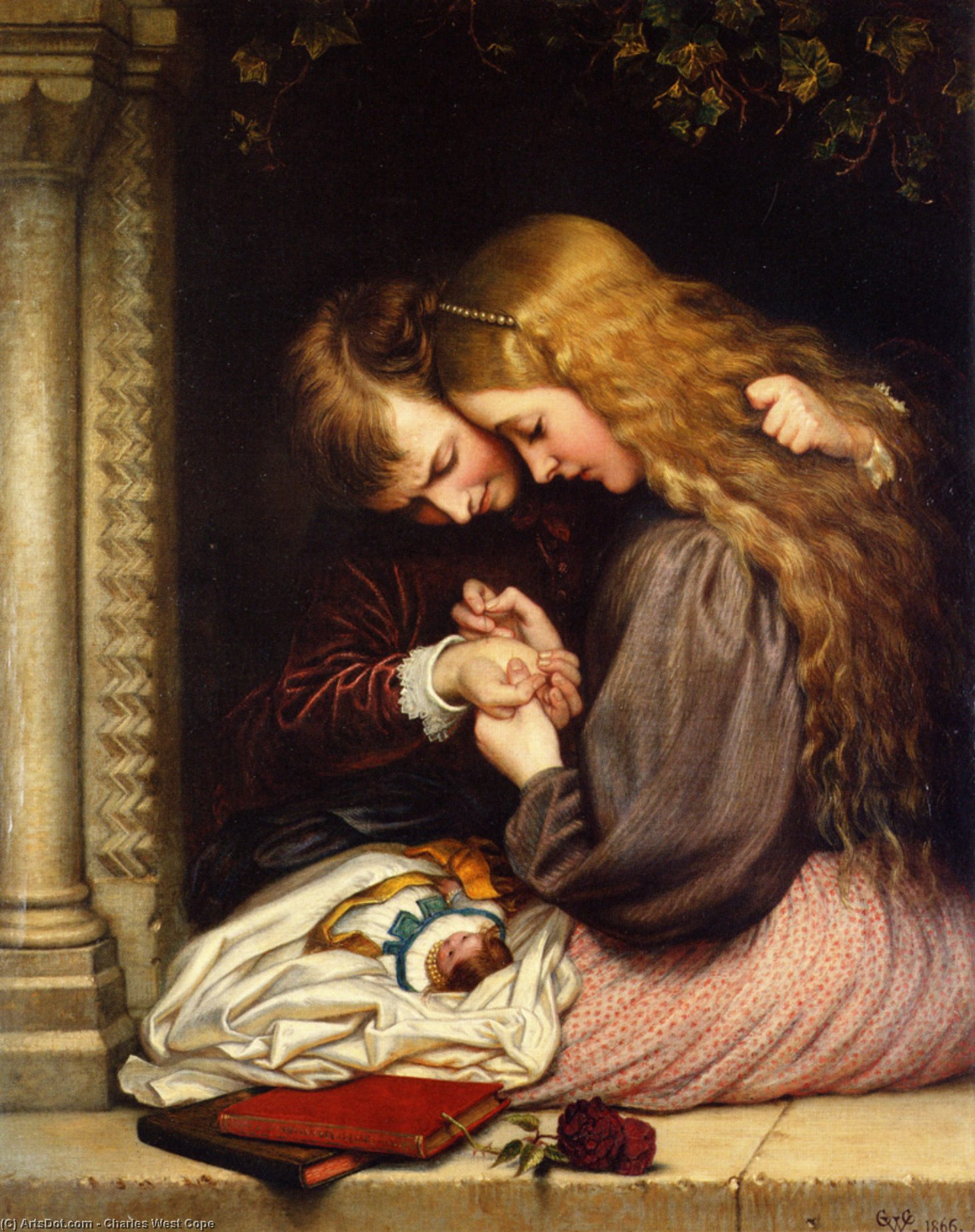 l'épine, 1866 de Charles West Cope (1811-1890, United Kingdom)