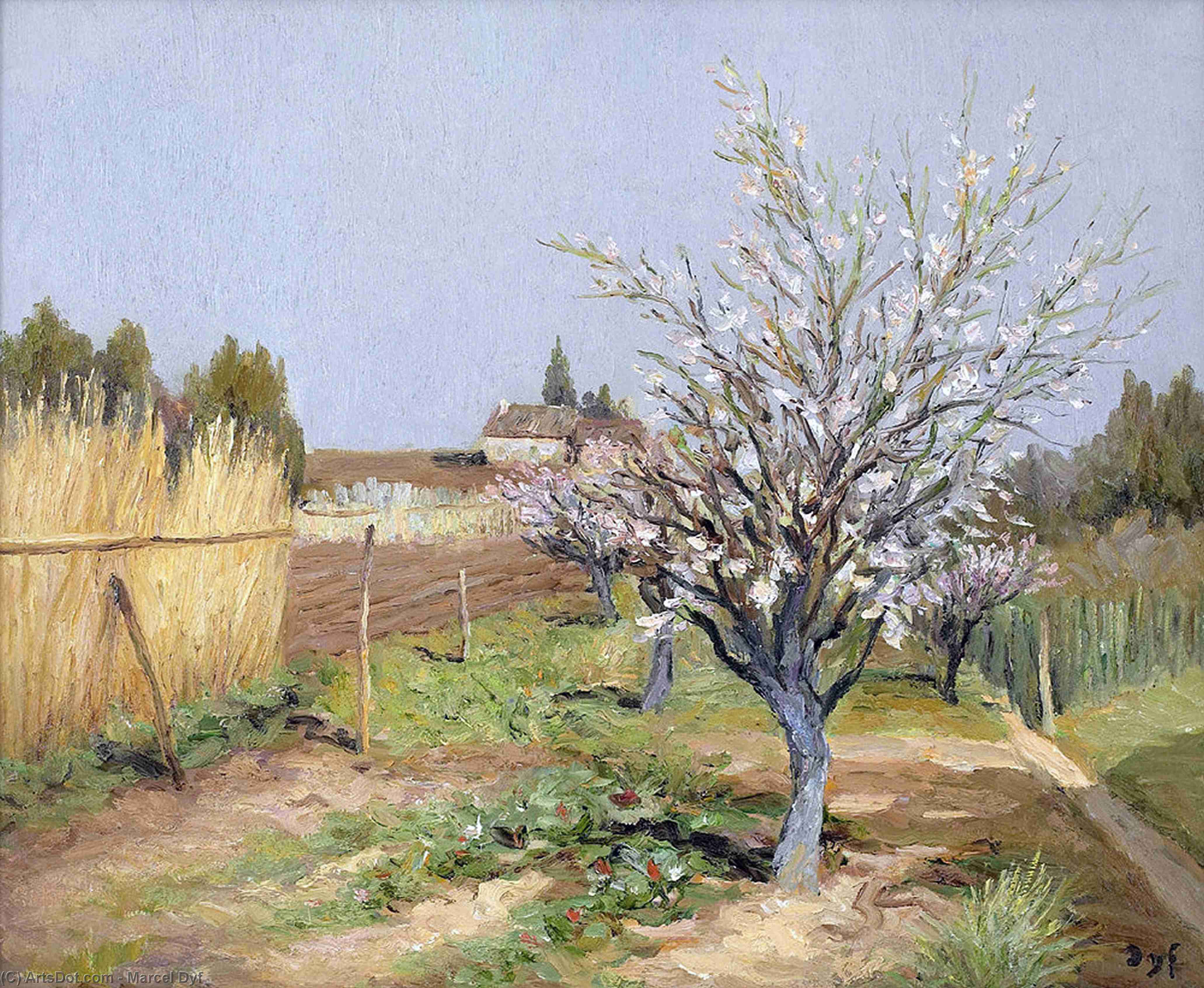 verger floraison  de Marcel Dyf (1899-1985, France) | Reproductions D'art Sur Toile | ArtsDot.com