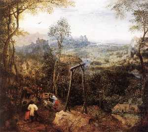 Pieter Bruegel The Elder - Magpie sur la Gallow