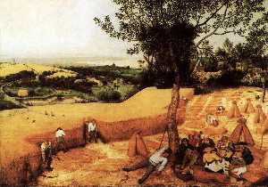 Pieter Bruegel The Elder - la blé  moisson  Août