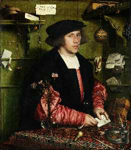 Hans Holbein The Younger - Portrait du Marchand Georg Gisze
