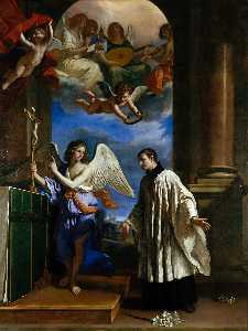 Guercino (Barbieri, Giovanni Francesco) - la vocation de saint aloysius ( Luigi ) Gonzaga