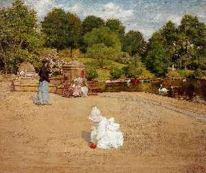 William Merritt Chase - Une Fragment de l Terasse ( ak..