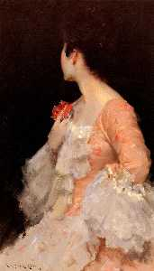 William Merritt Chase - Portrait d une dame